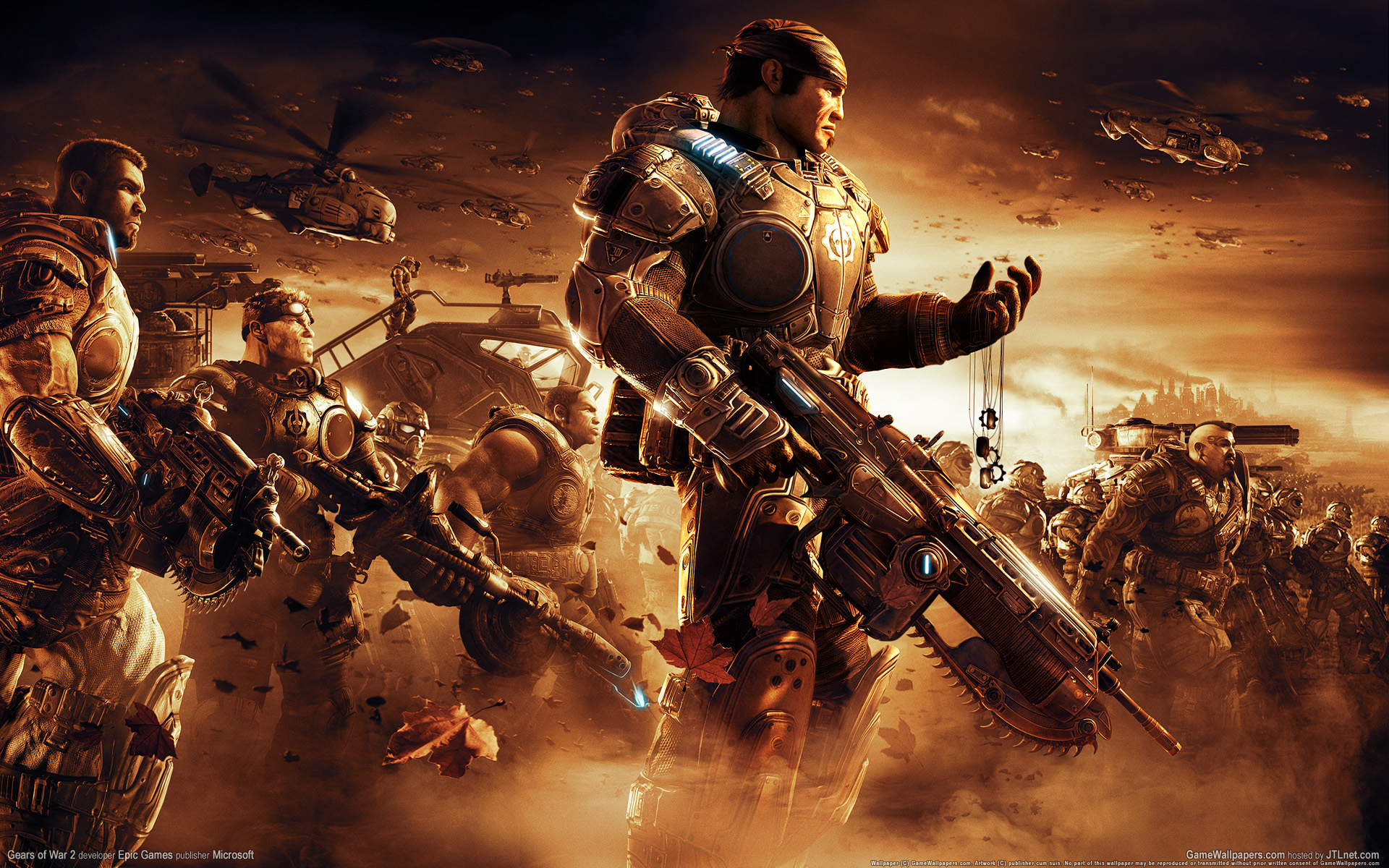 Download 3D game 'Gears of War' HQ wallpapers.