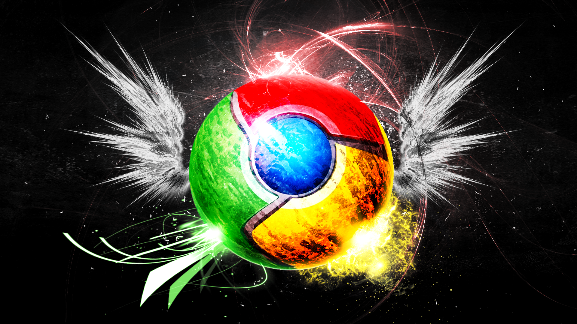 Artistic Google Chrome Wallpaper