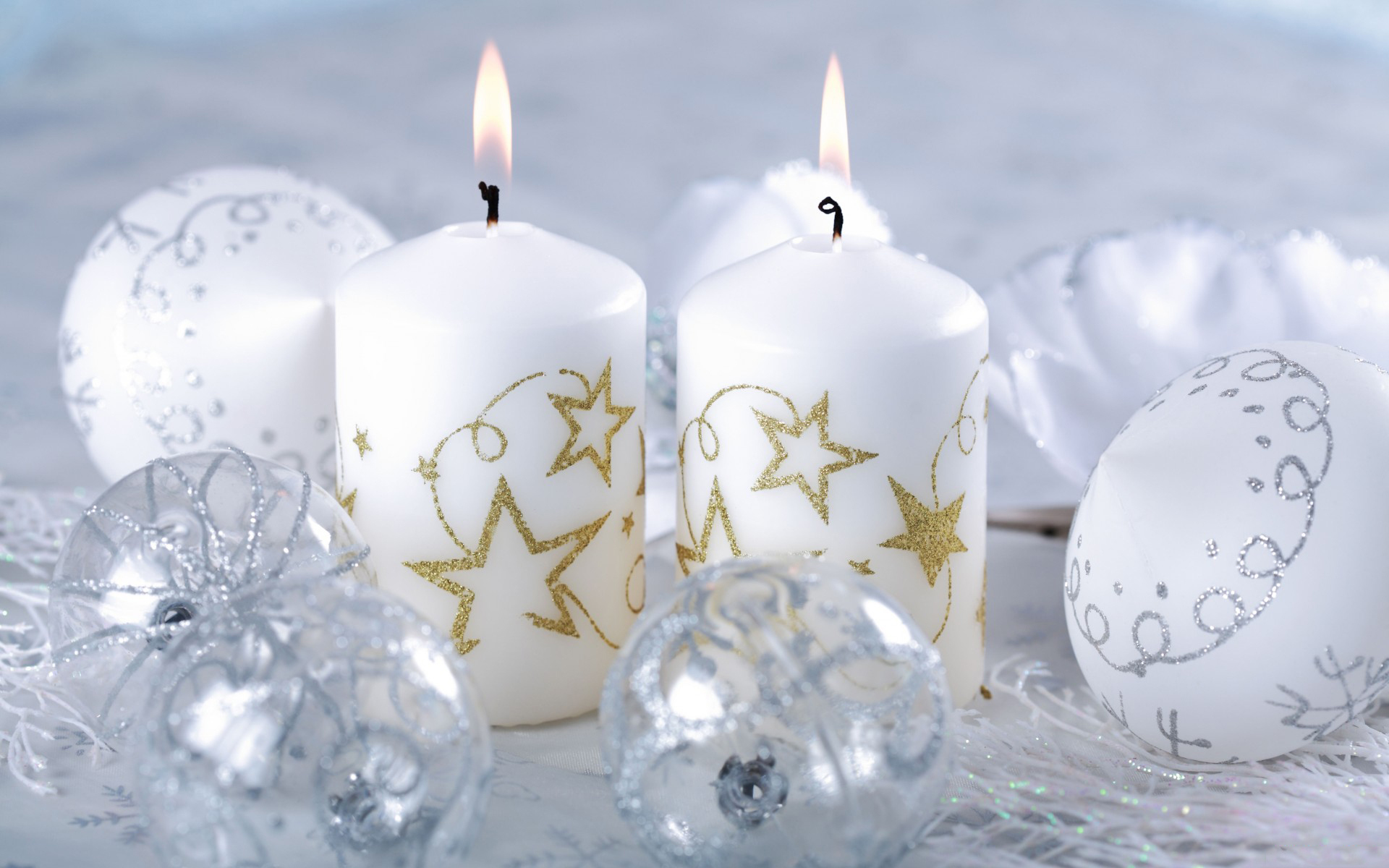 Awesome Holiday Candles Wallpaper