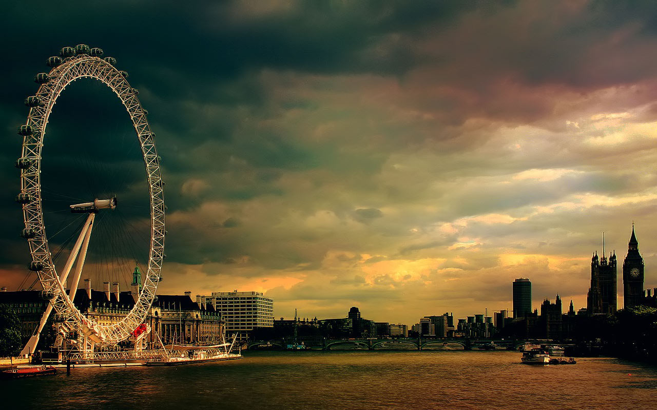 Awesome London Eye Free Computer Desktop Wallpaper