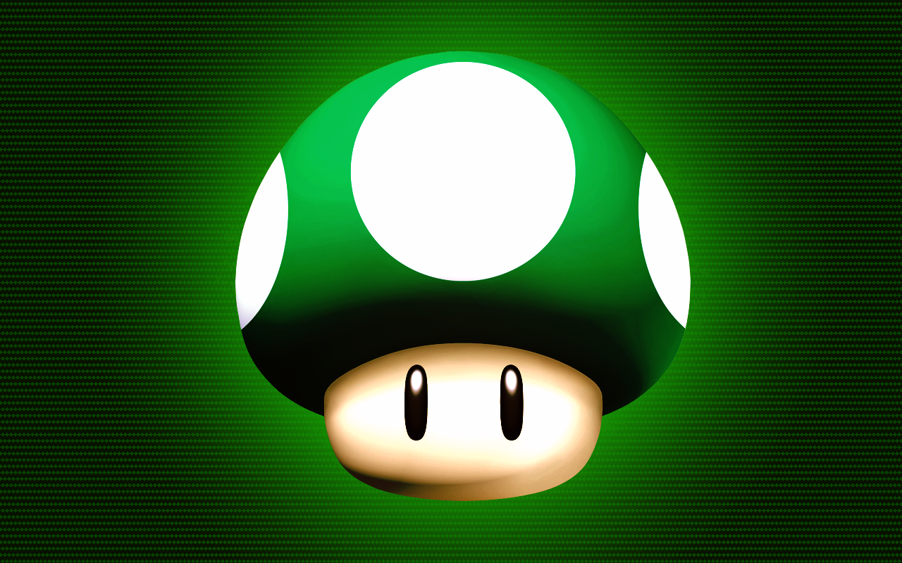 Awesome Mario Mushroom Wallpaper