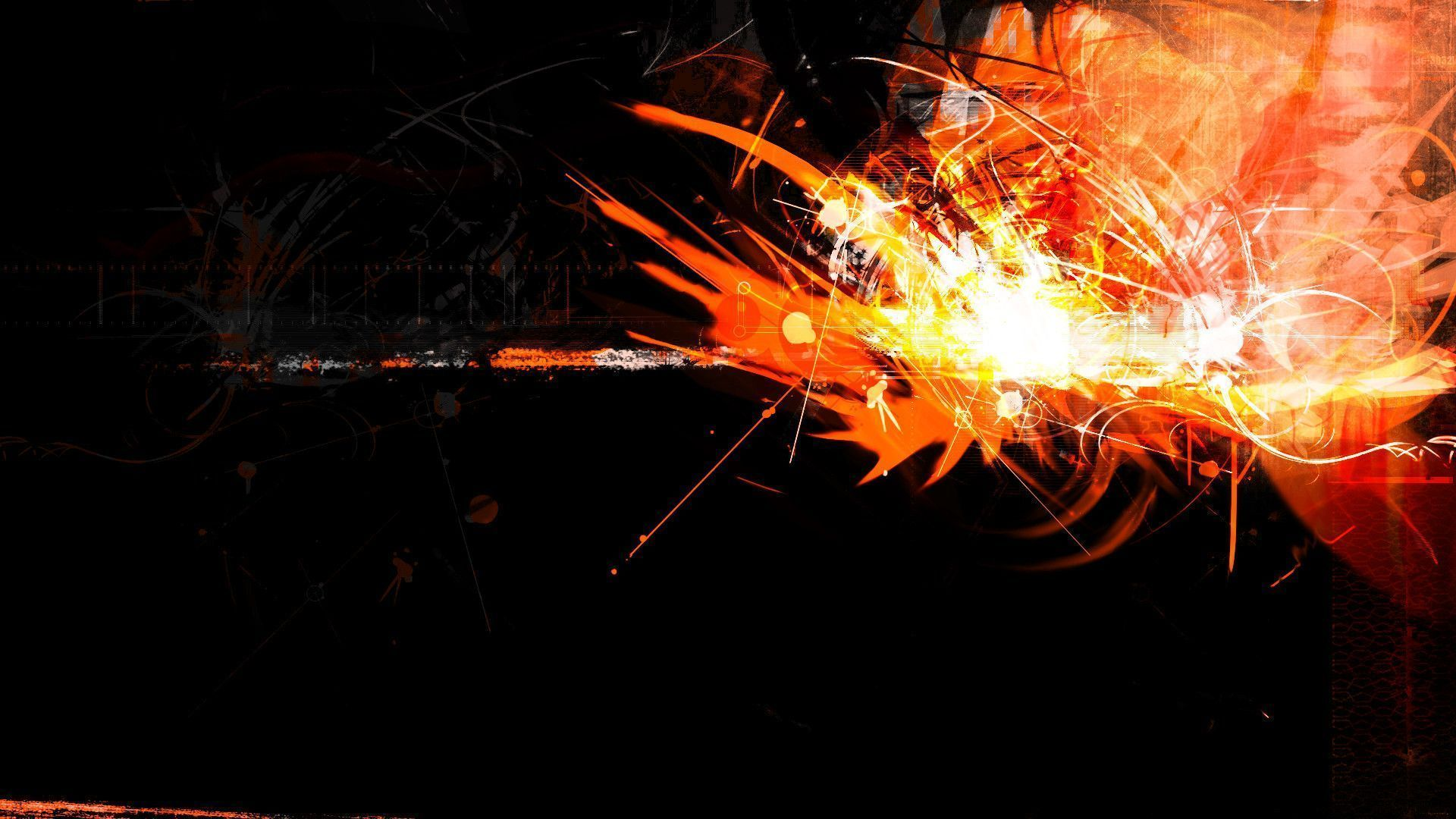 """Download the following Orange Abstract Wallpaper 27684 by clicking the orange button positioned underneath the """"Download Wallpaper"""" section."""