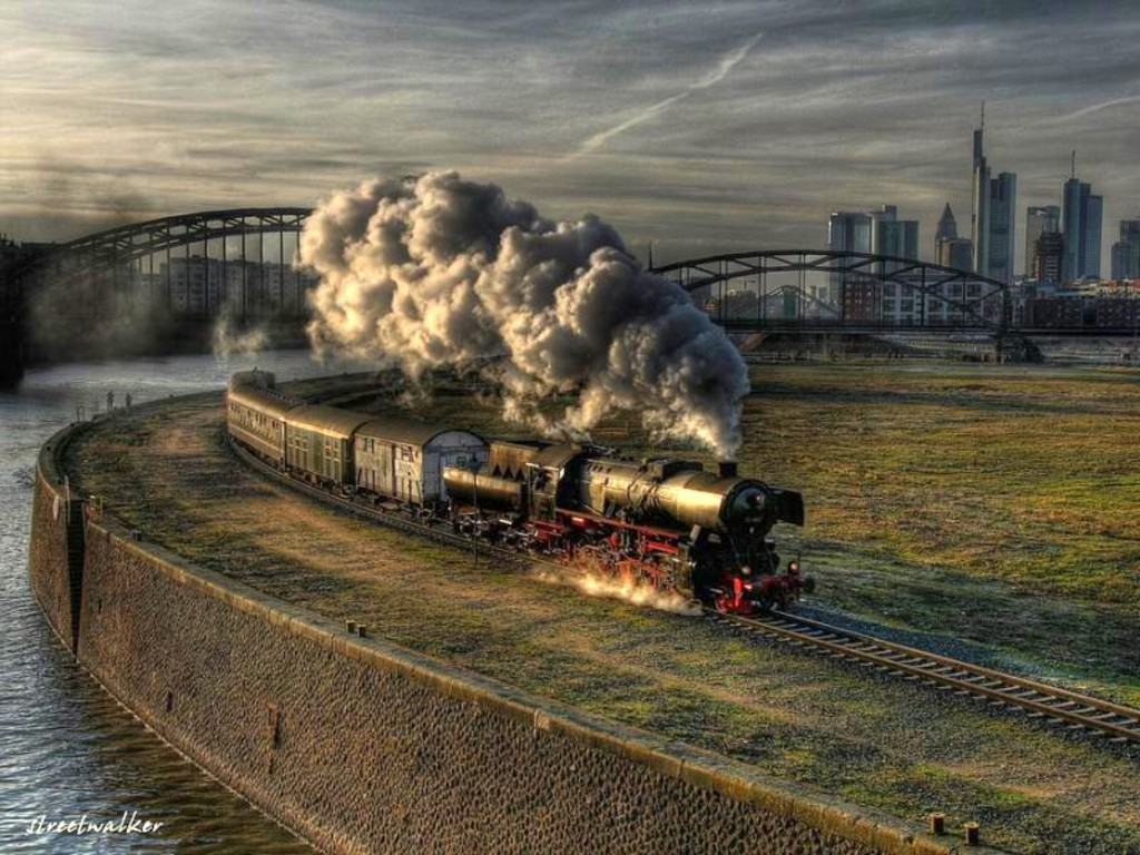 Cool Train Landscape Wallpapers