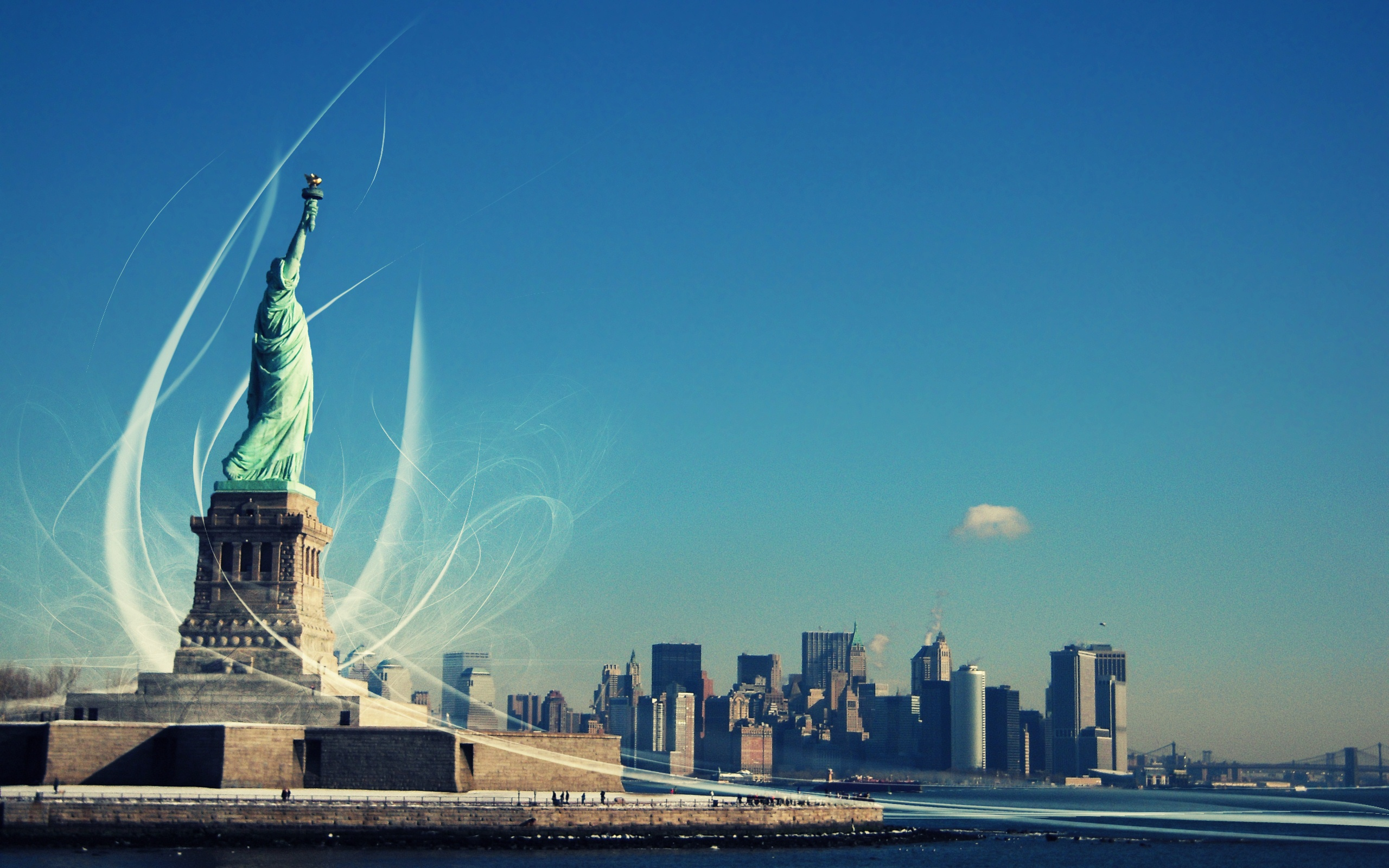 Awesome Statue of Liberty Wallpaper
