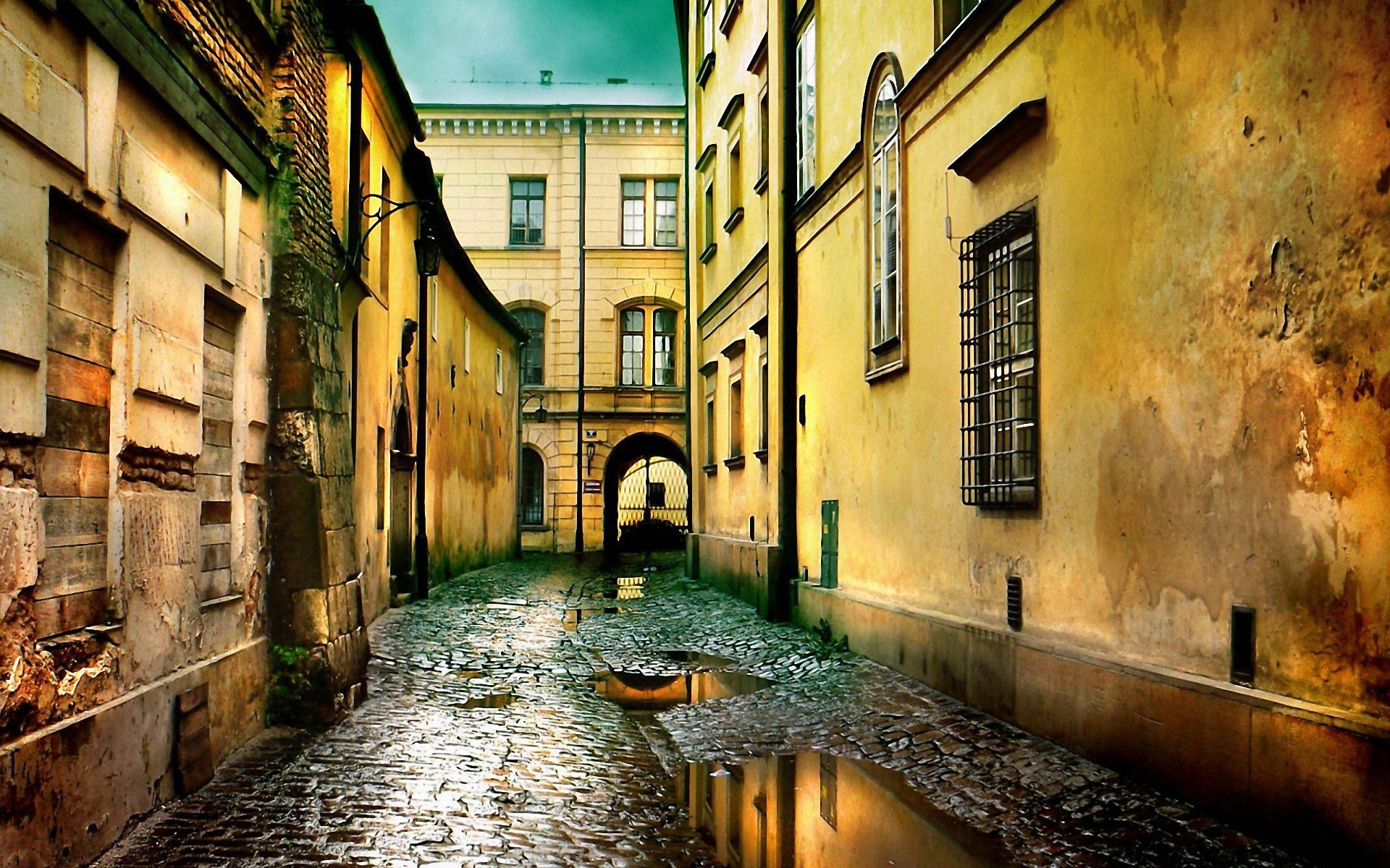 City Street, Awesome lonly colorful street HD 1080P wallpapers