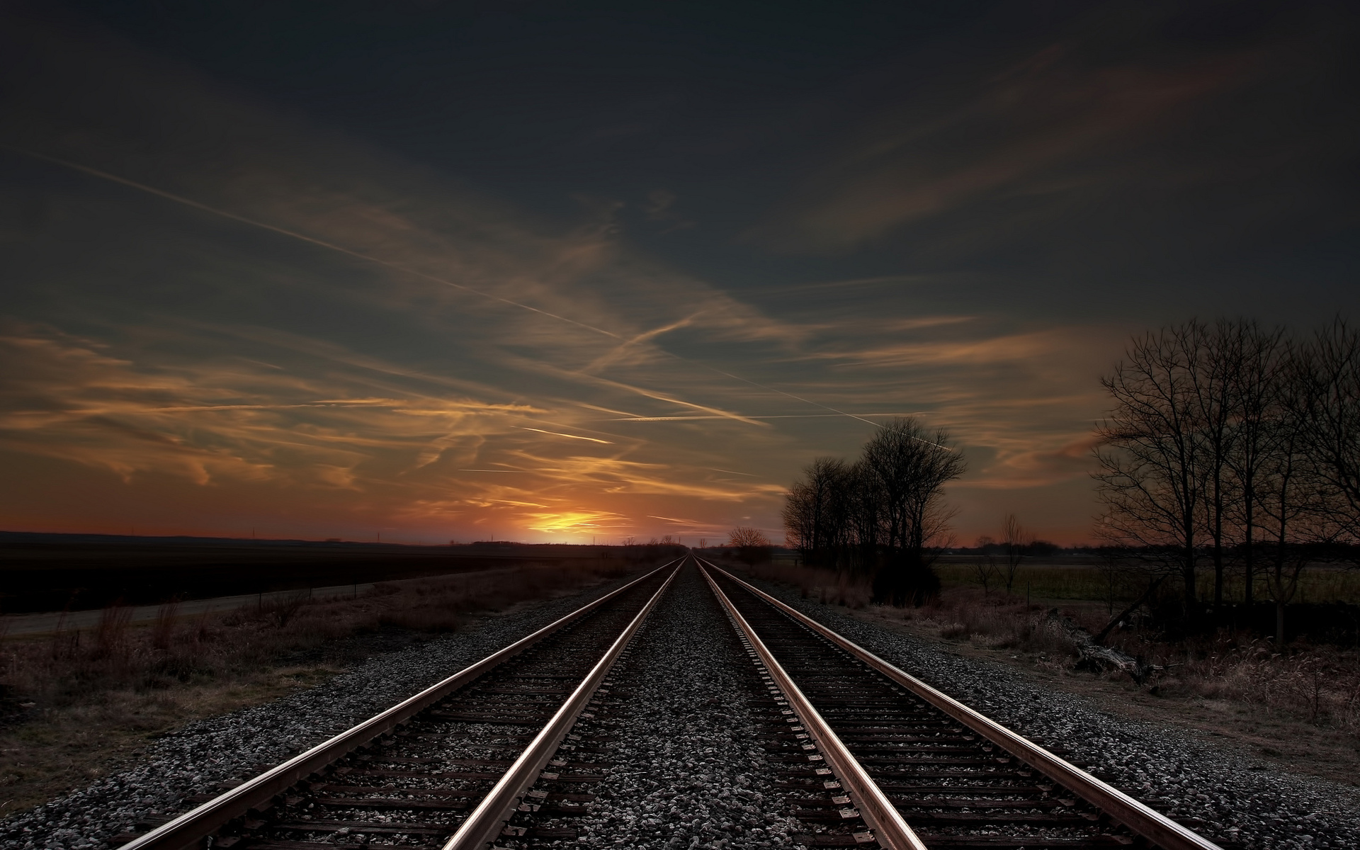 Awesome Train Track Wallpaper