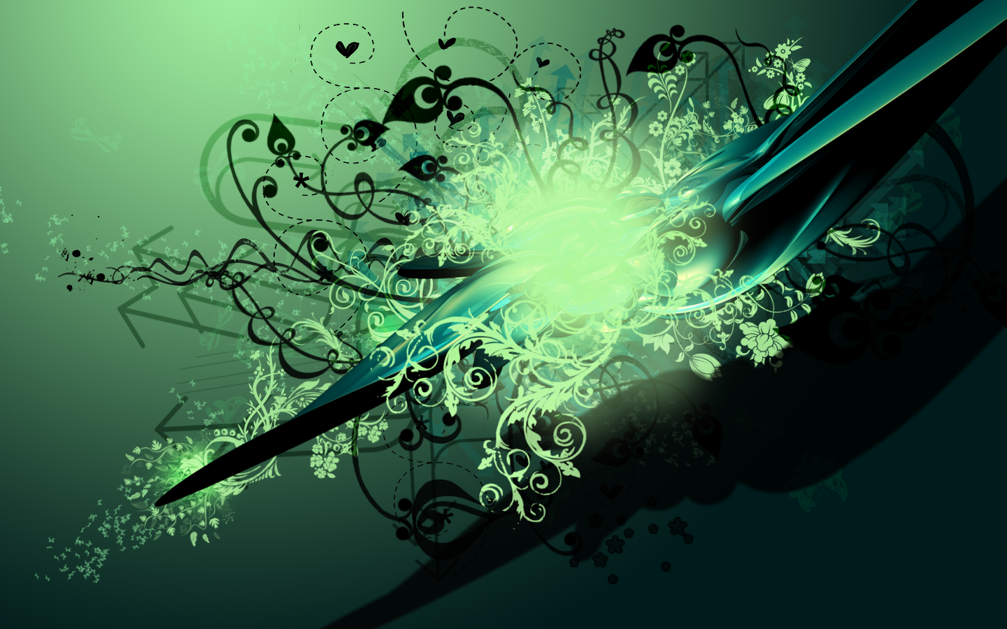 green vector wallpaper by Bartas1503 green vector wallpaper by Bartas1503