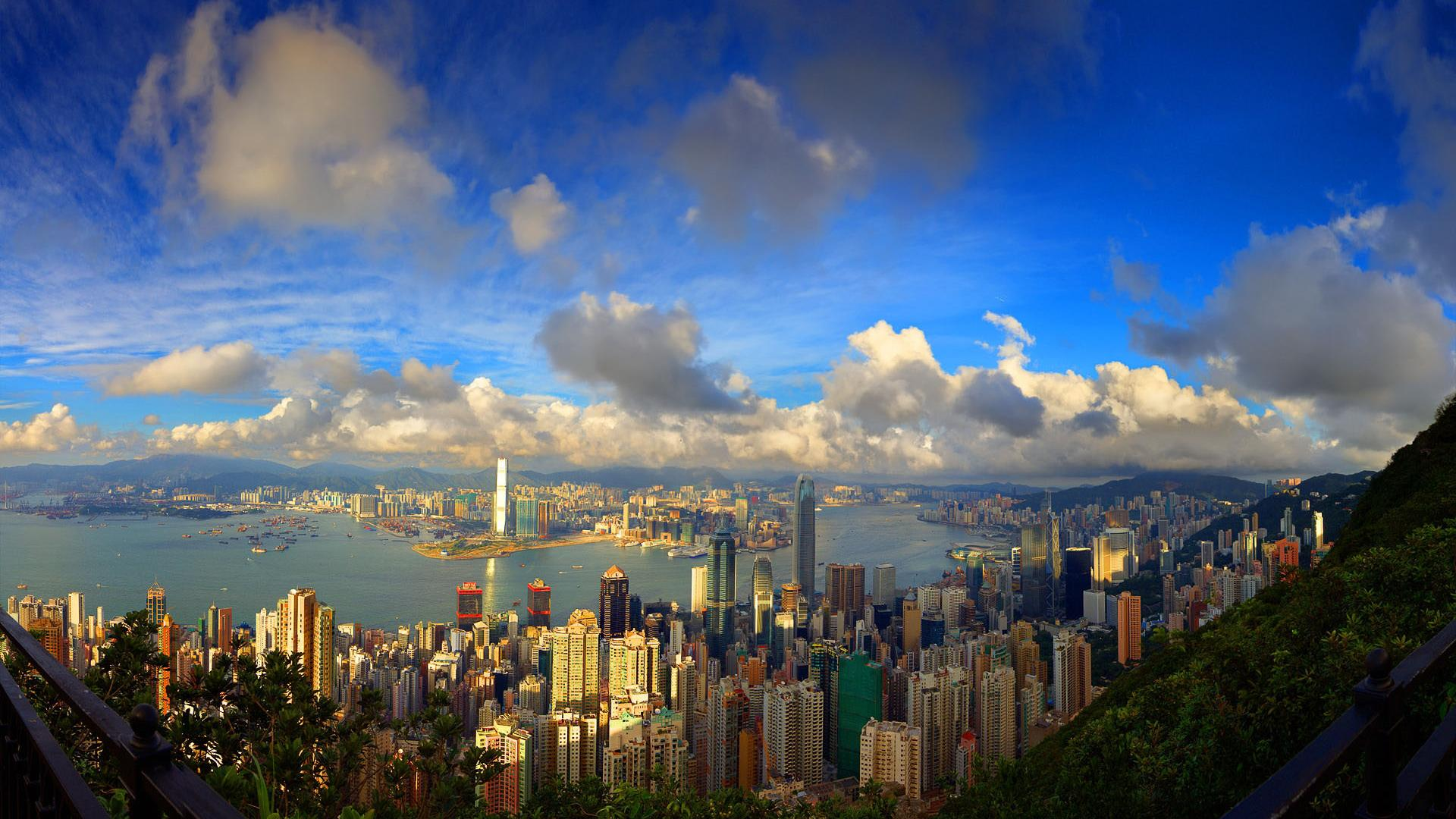 Hd Awesome View Of Hong Kong Wallpaper Download Free 1920x1080px