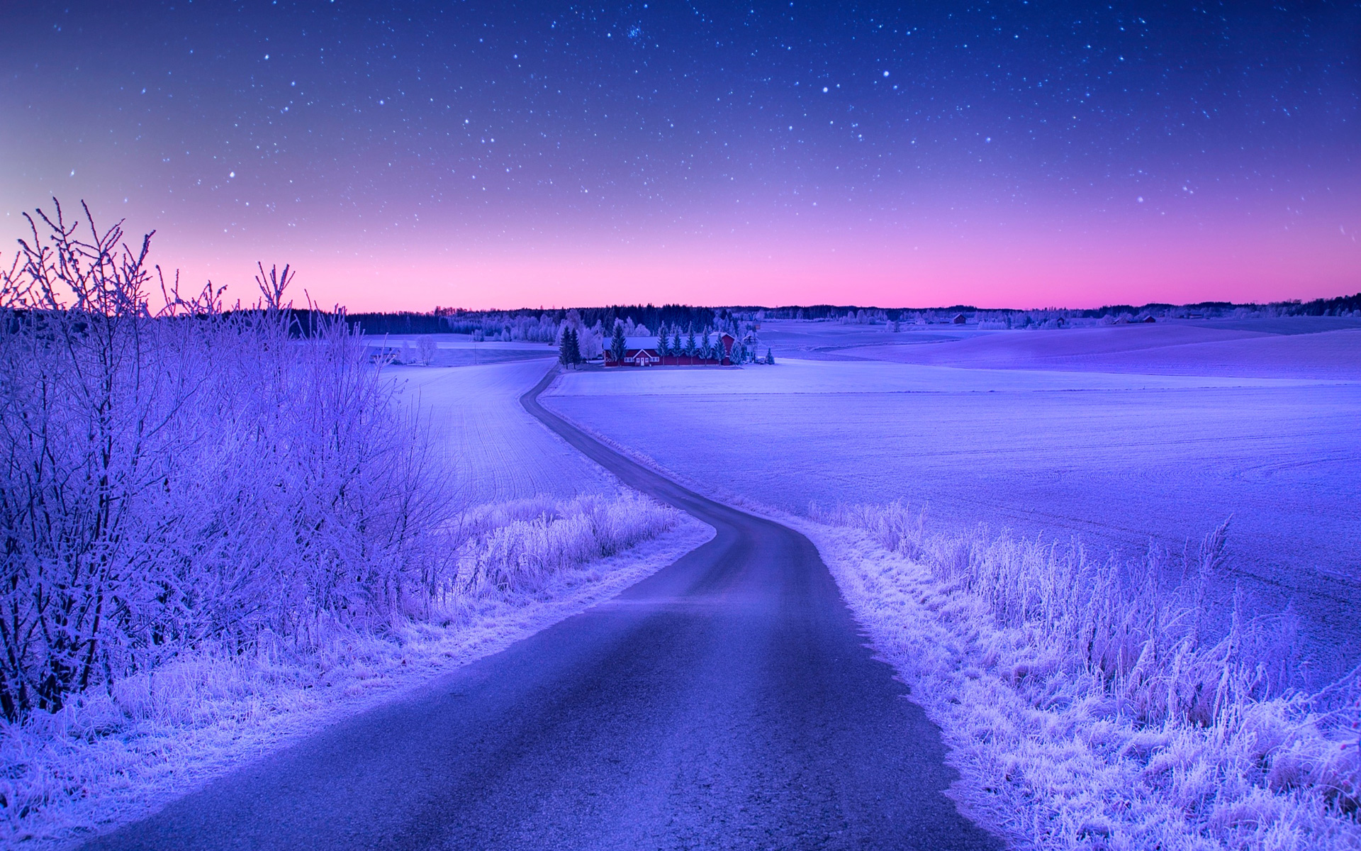 Awesome Winter Road Wallpaper