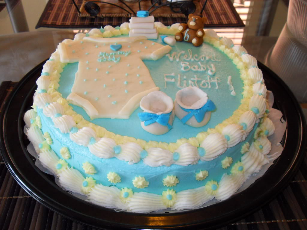 Baby shower cakes wallpaper 1024x768 2499 for Baby boy cake decoration ideas