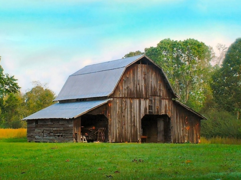... Barn Wallpaper ...