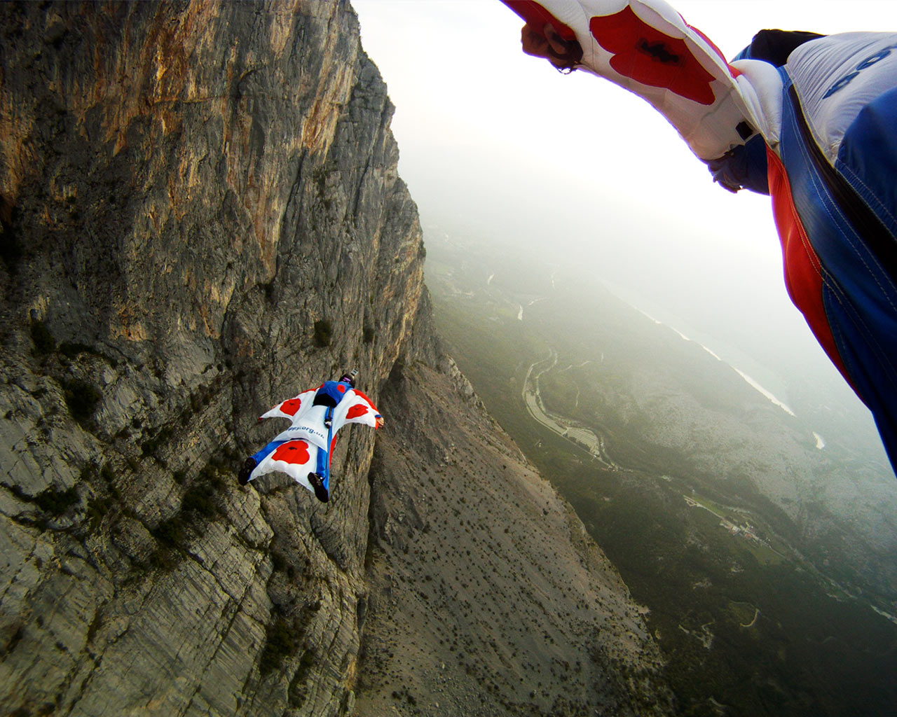 Base Jumping Hd Wallpaper