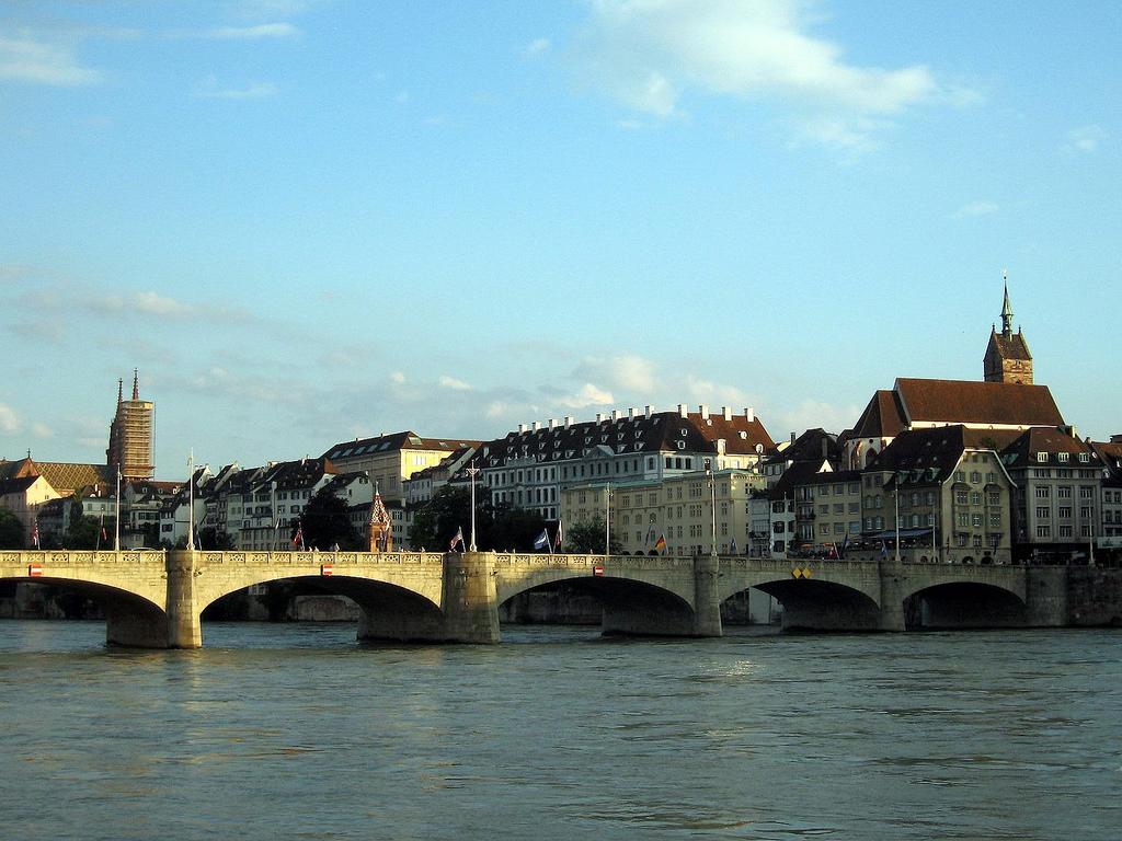 Basel rhine river