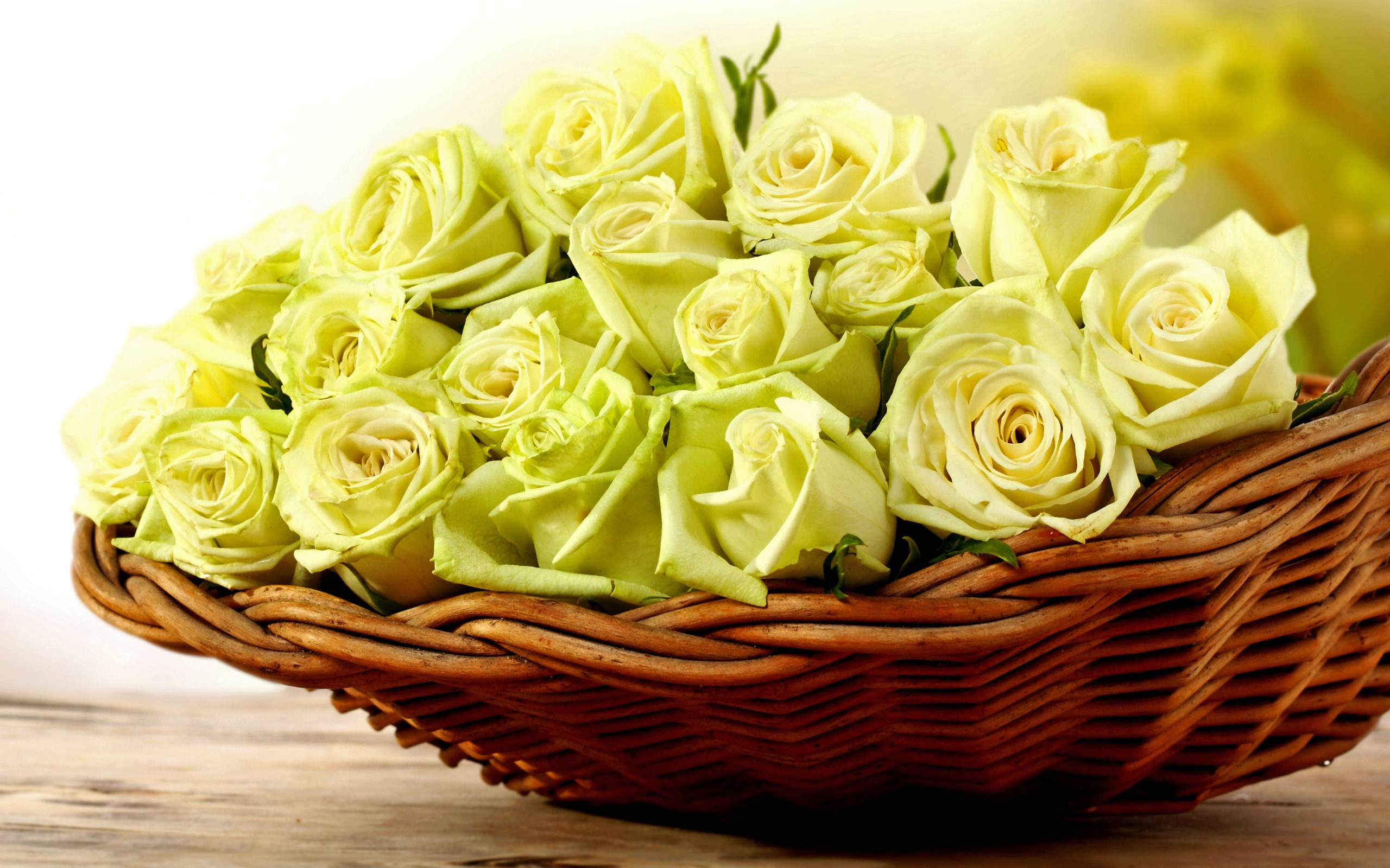 Basket Yellow Roses