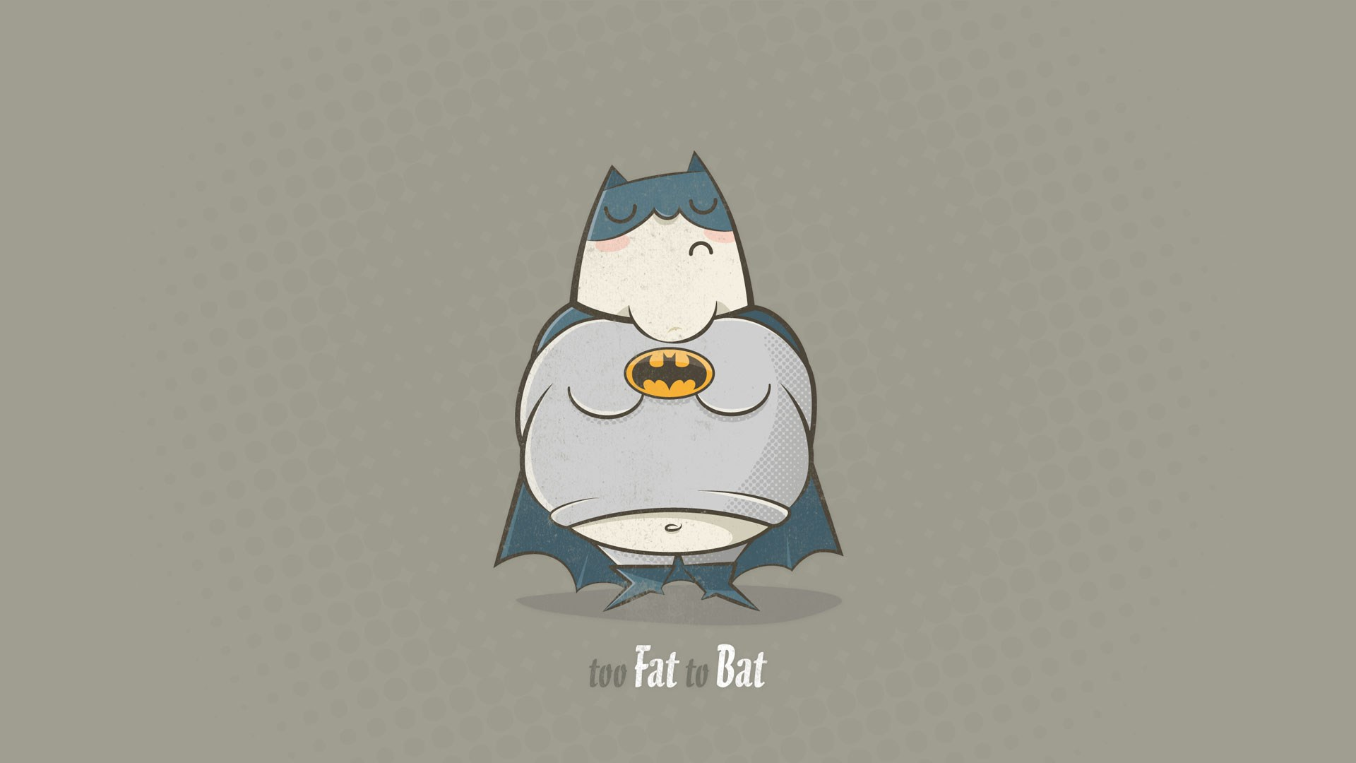 Batman Too Fat To Bat Funny