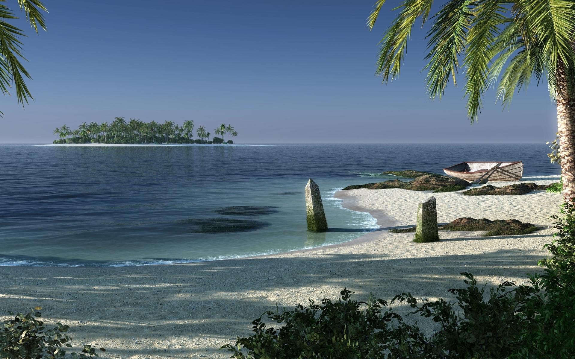 Beach fantasy island