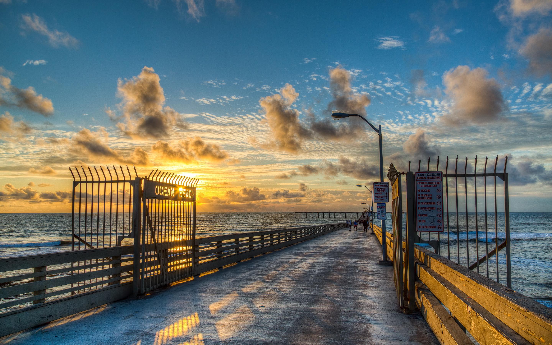 Beach ocean pier