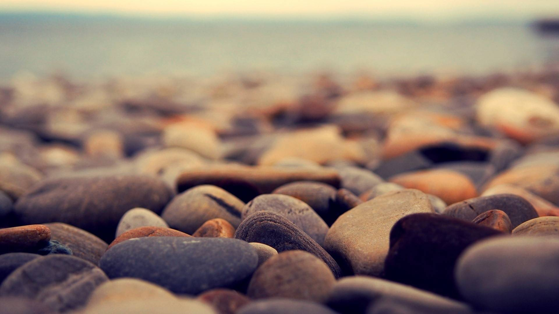 Beach Pebbles Wallpaper