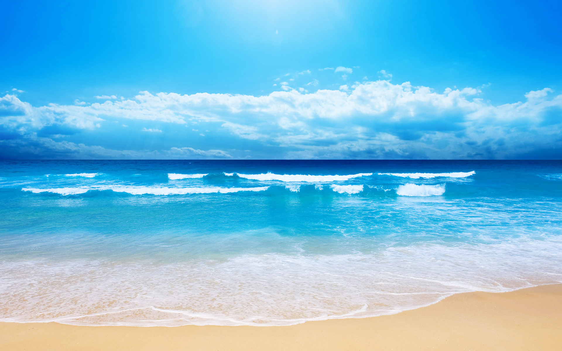 Beach sand blue sea
