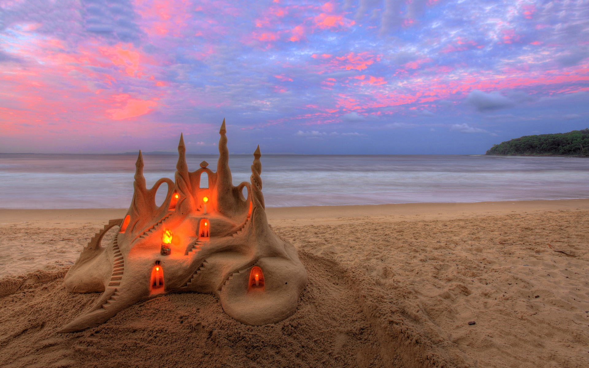 Beach sandcastle