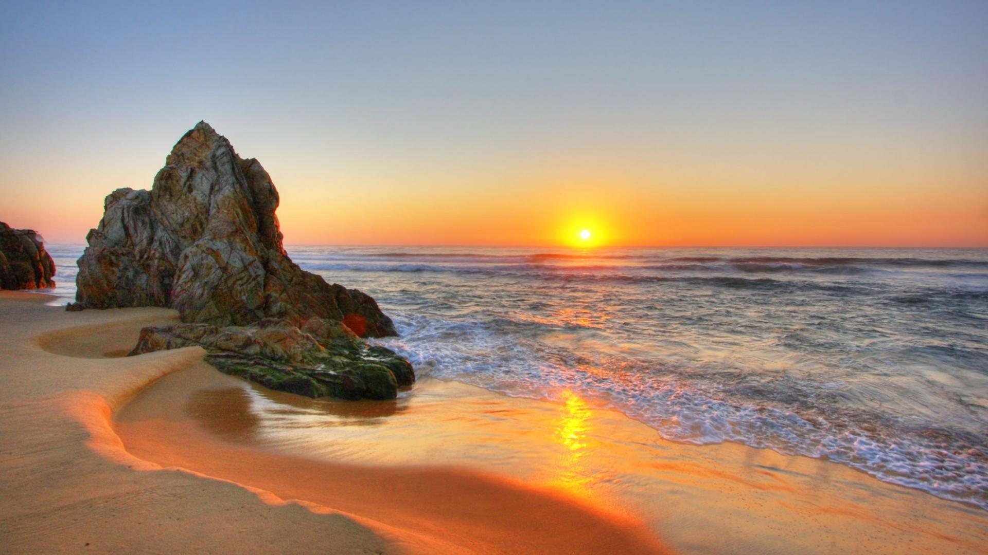 hd wallpapers beach sunset beautiful desktop widescreen backgrounds