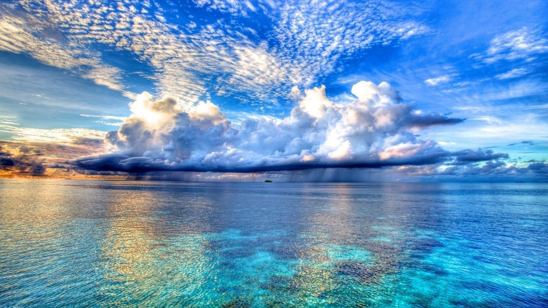 Beautiful Sky And Beach Wallpaper Download Wallpaper