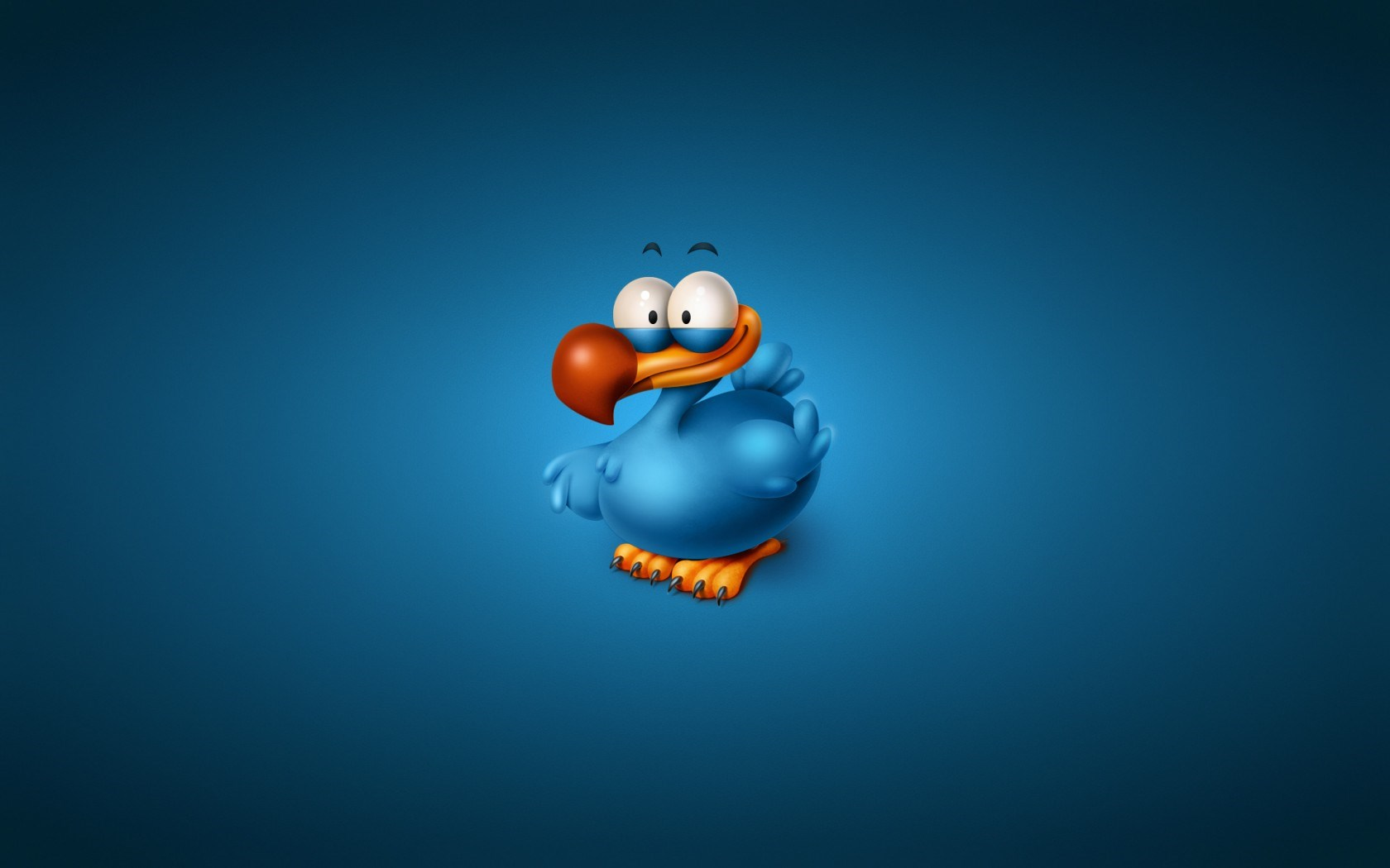 Bird Blue Minimalism Cartoon