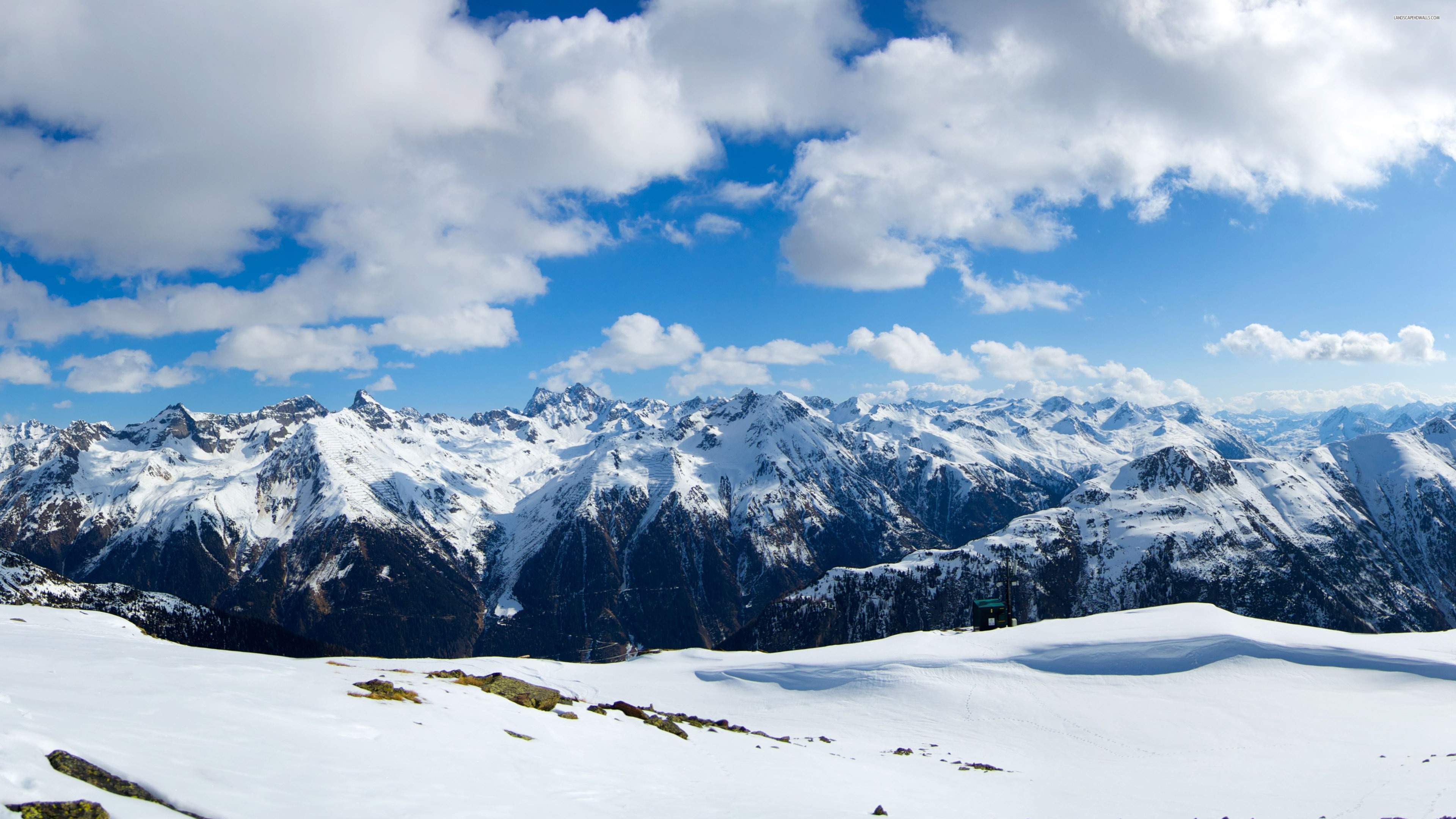 Beautiful snowy Alps Wallpaper