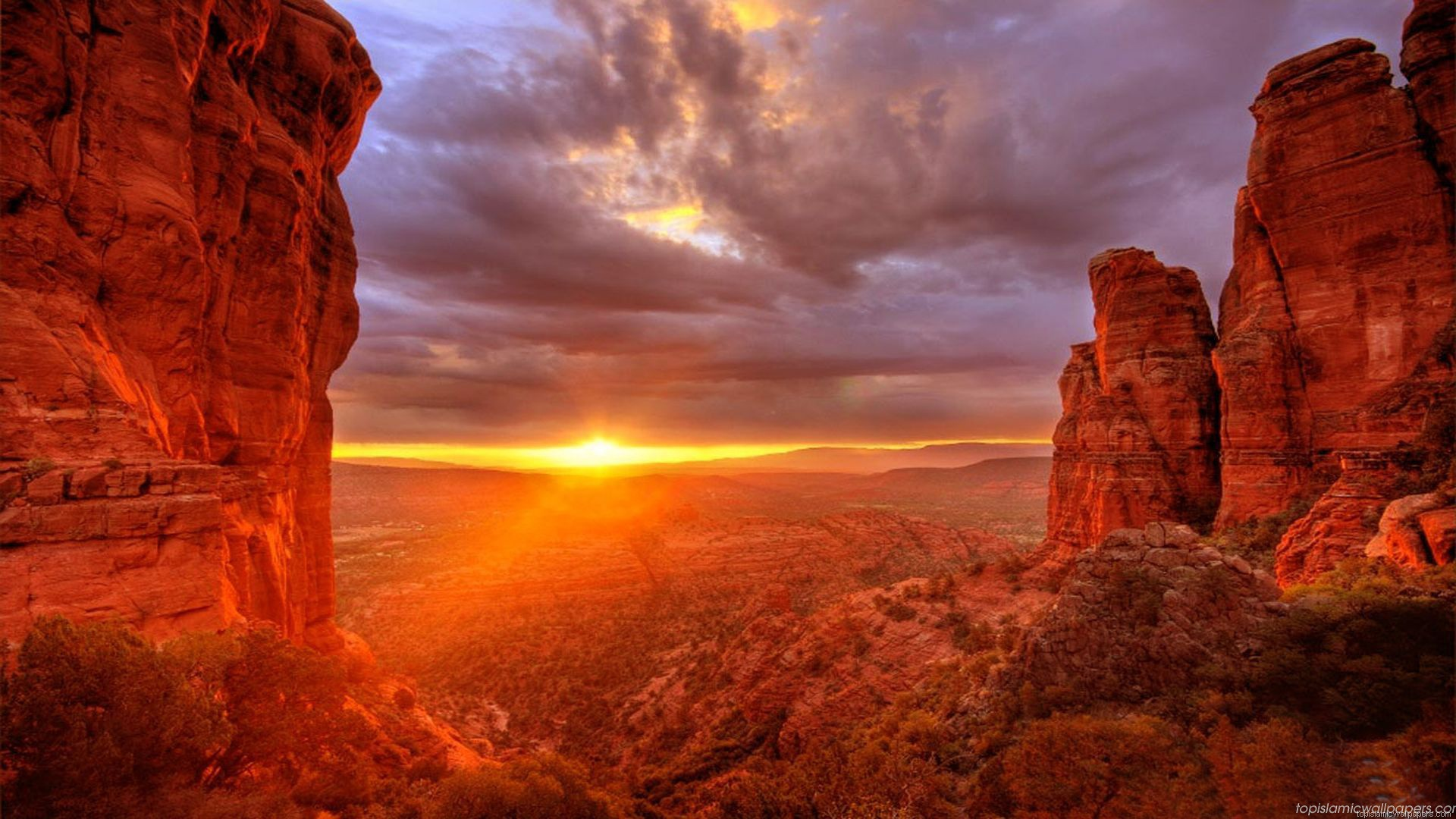 beautiful arizona sunset wallpaper 1920x1080 26789