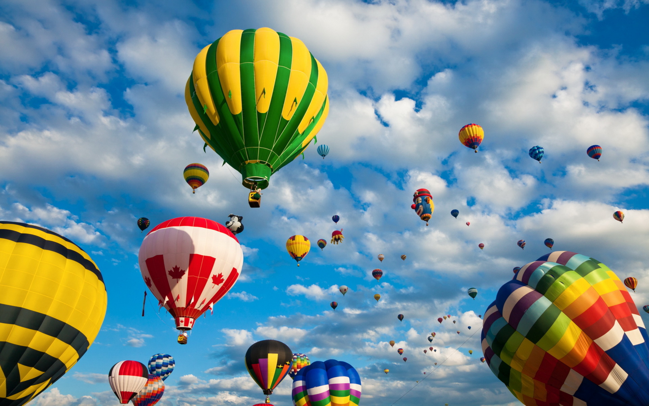 HD Wallpapers Beautiful Balloon - Up In The Sky