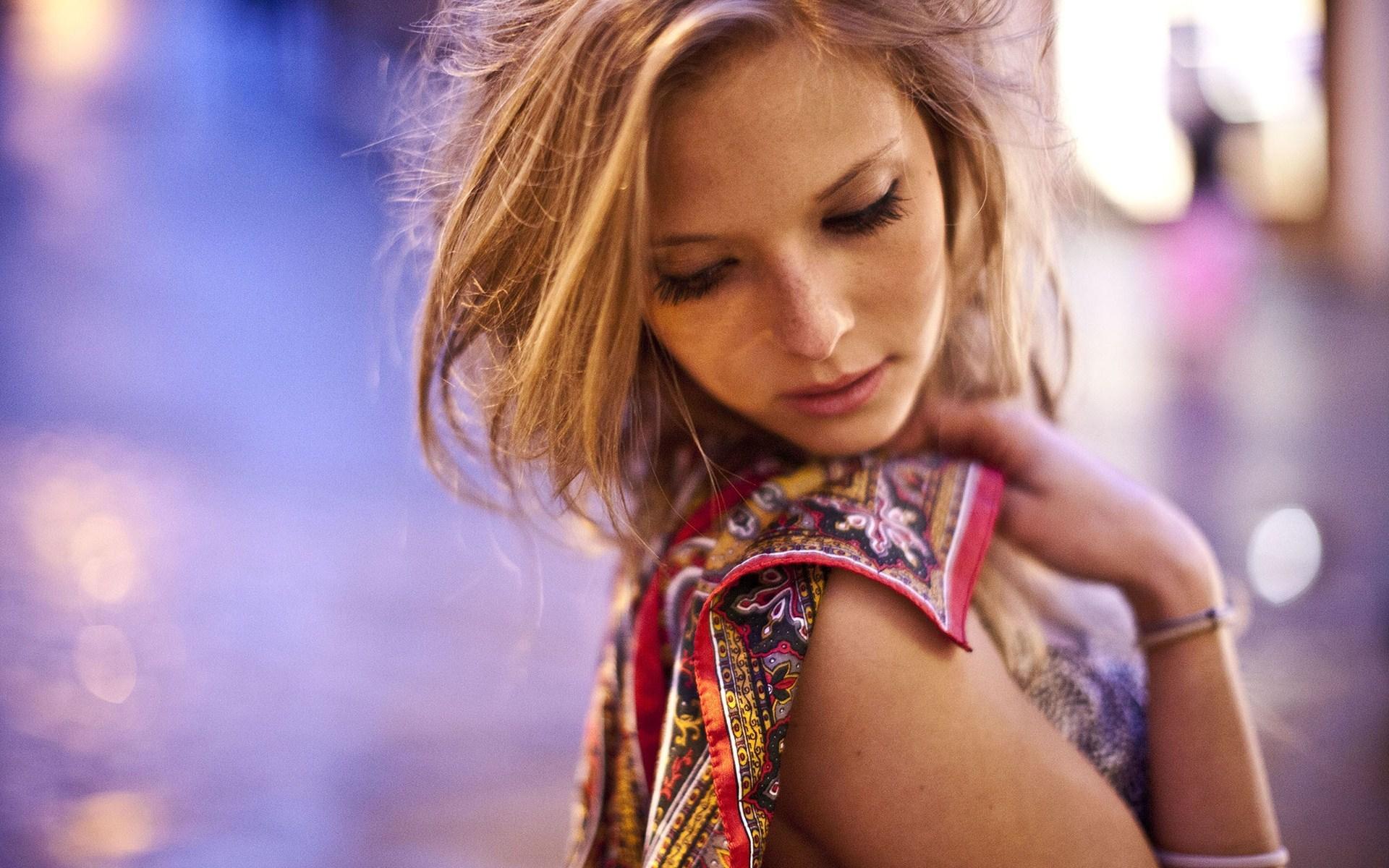 Beautiful Blonde Girl Macro