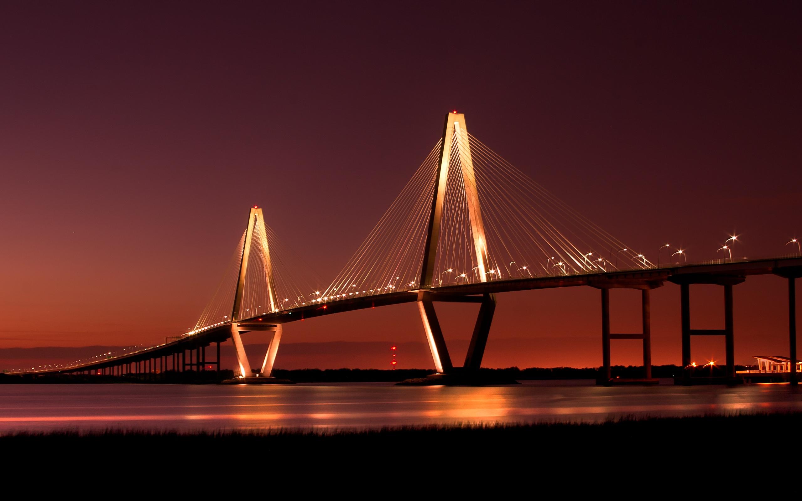 HD Wallpapers Beautiful Bridges wallpaper free - Cooper River Bridge