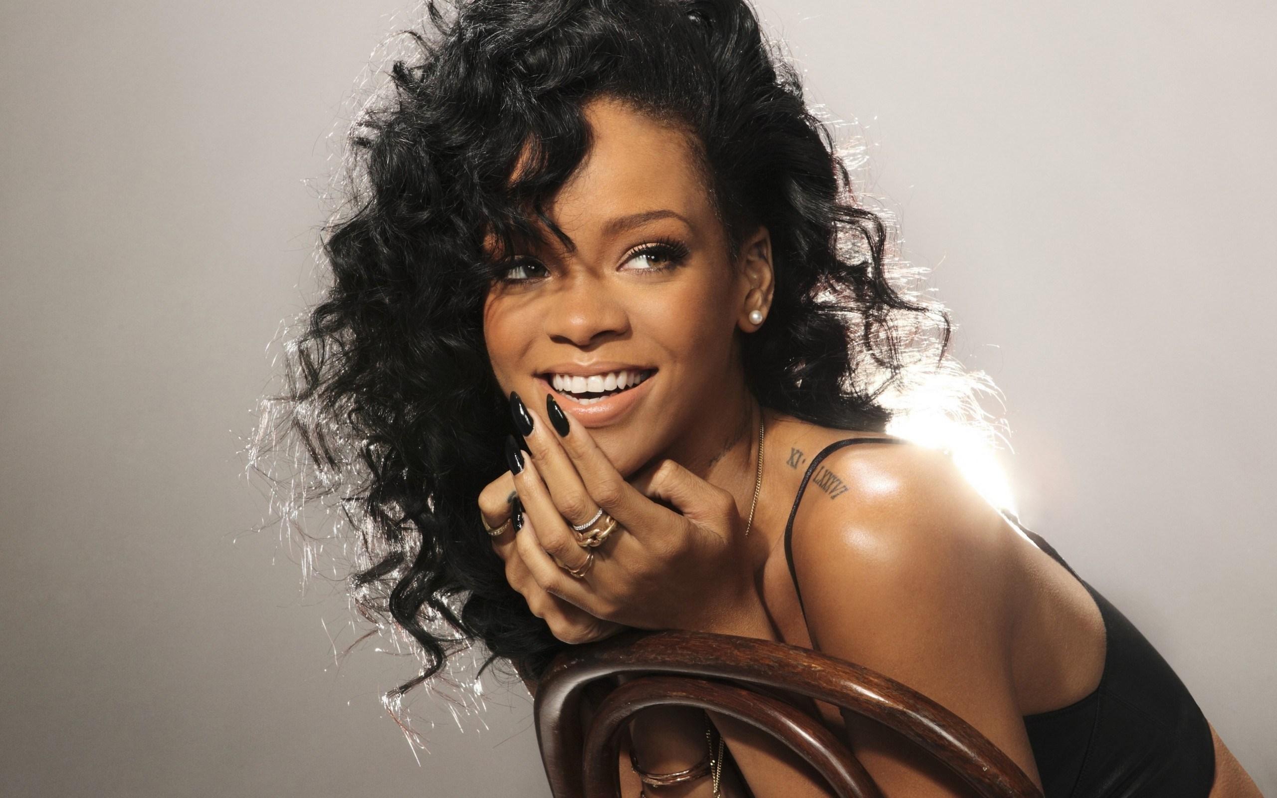 Beautiful Brunette Rihanna Singer
