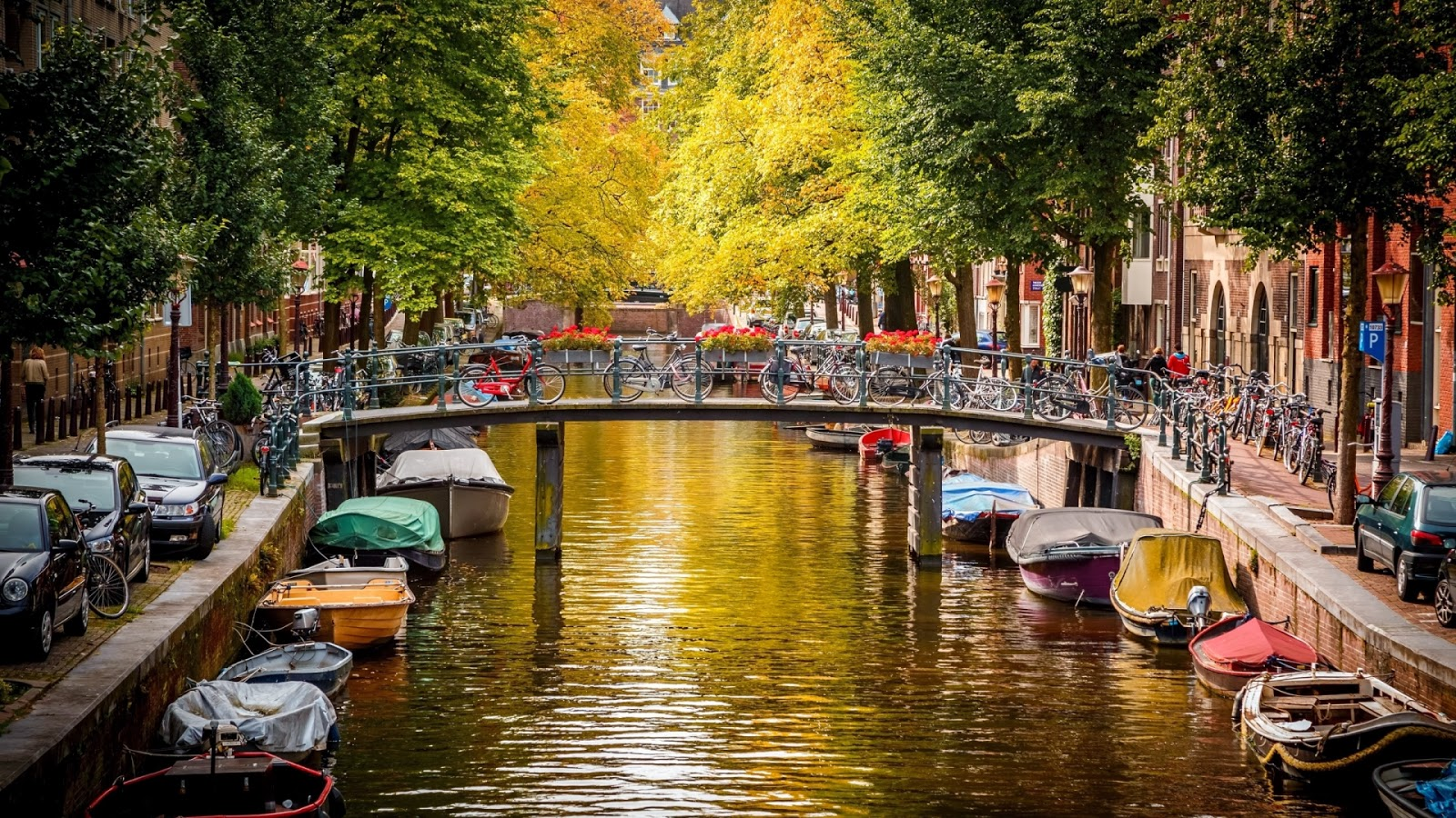 Amsterdam Canal Wallpaper