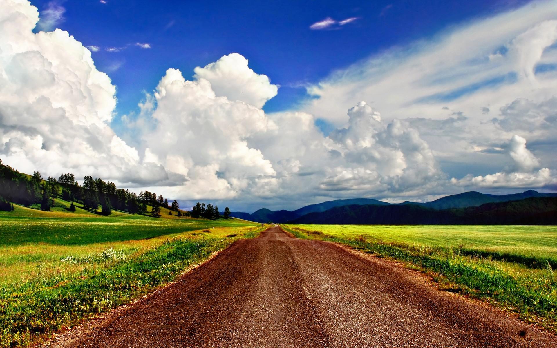Beautiful sky over dirt road HQ WALLPAPER - (#109592)