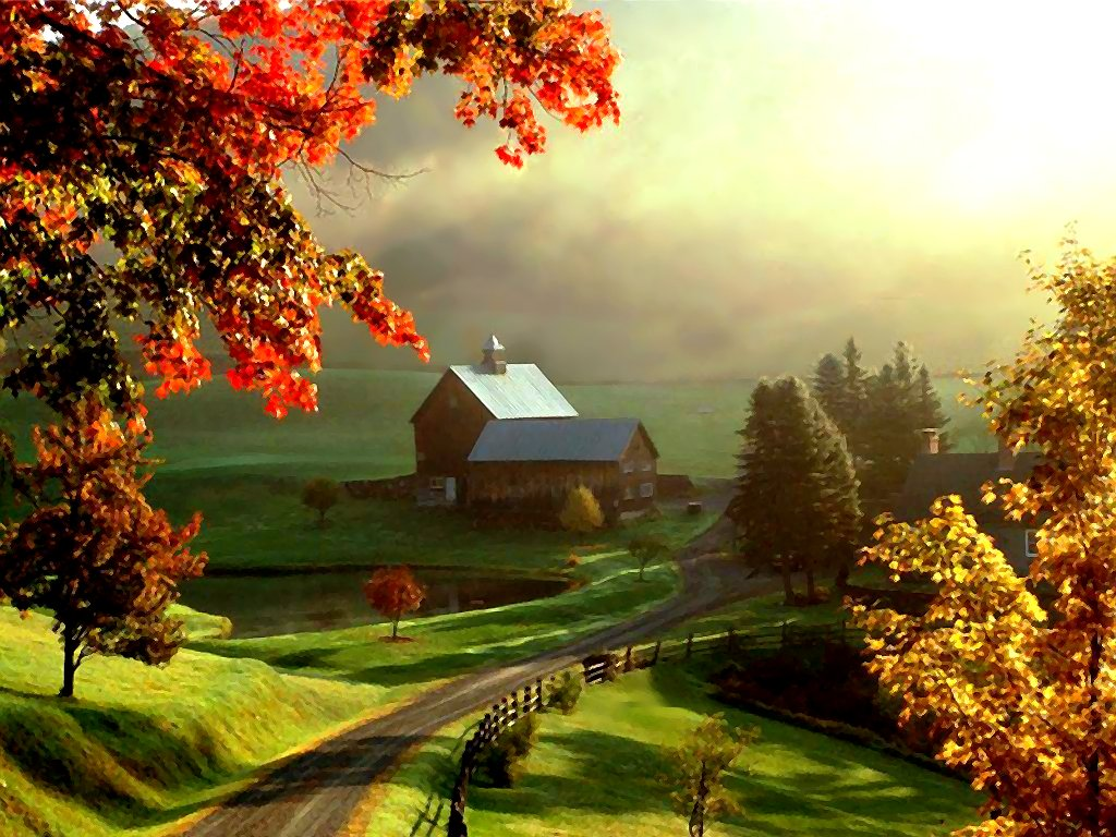 Beautiful Farm Wallpaper