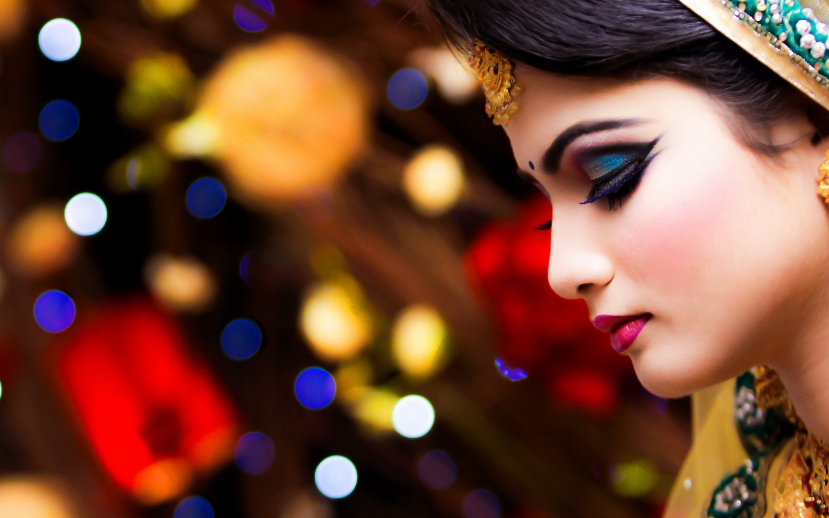 Beautiful Girl Bokeh Wallpaper