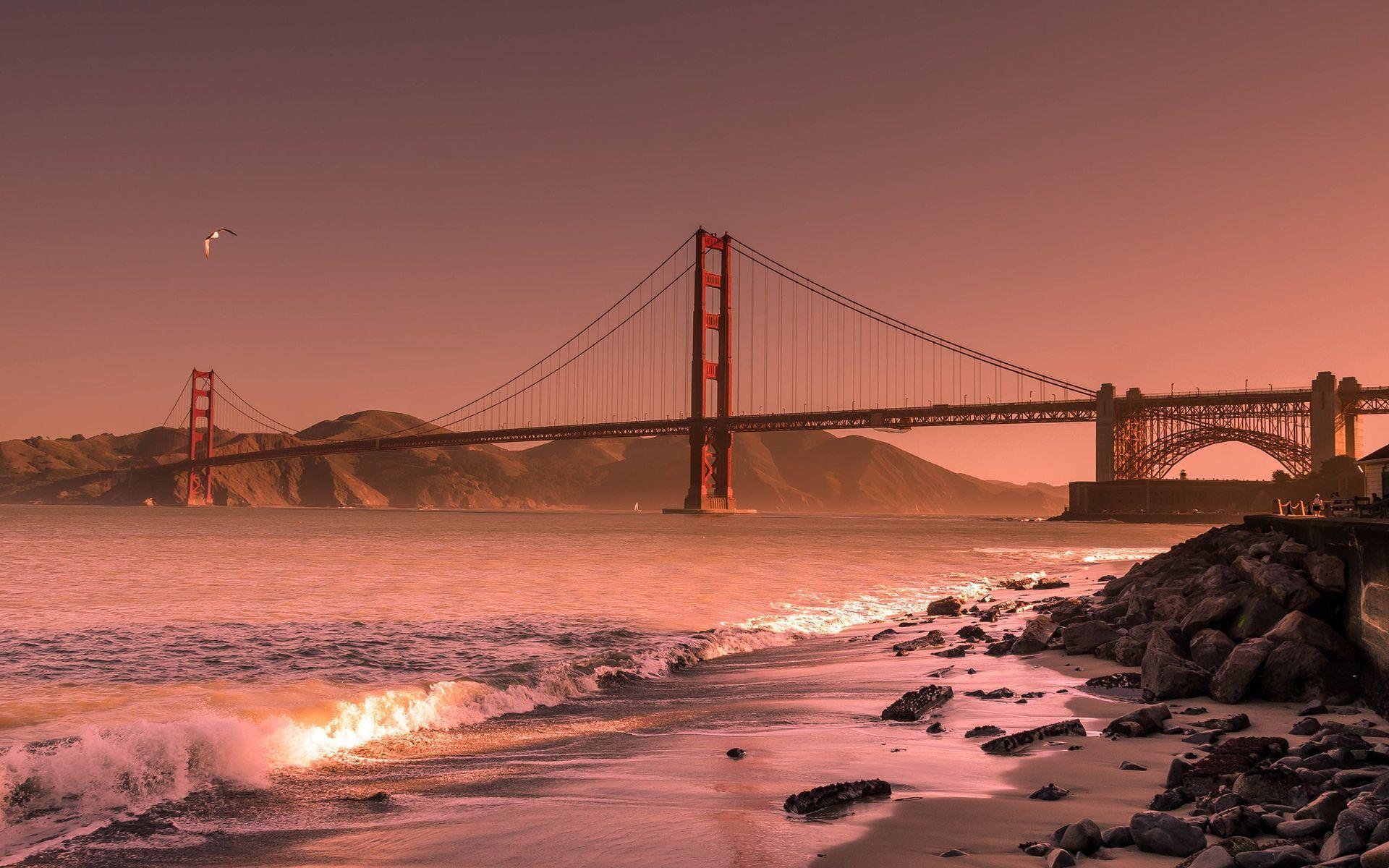Beautiful Golden Gate Bridge Wide Desktop Background HD wallpapers