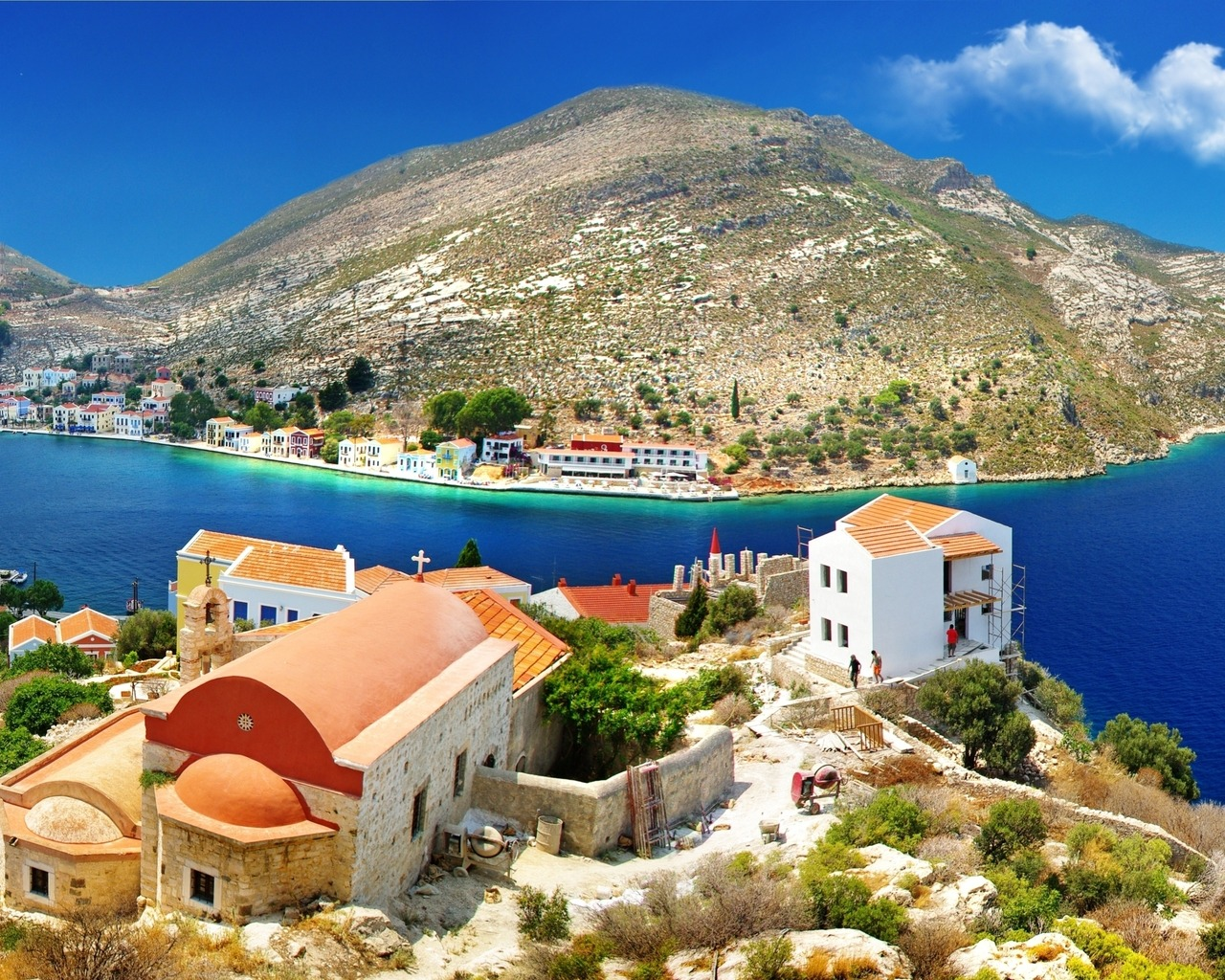 Beautiful Greece 1280x1024 wallpaper