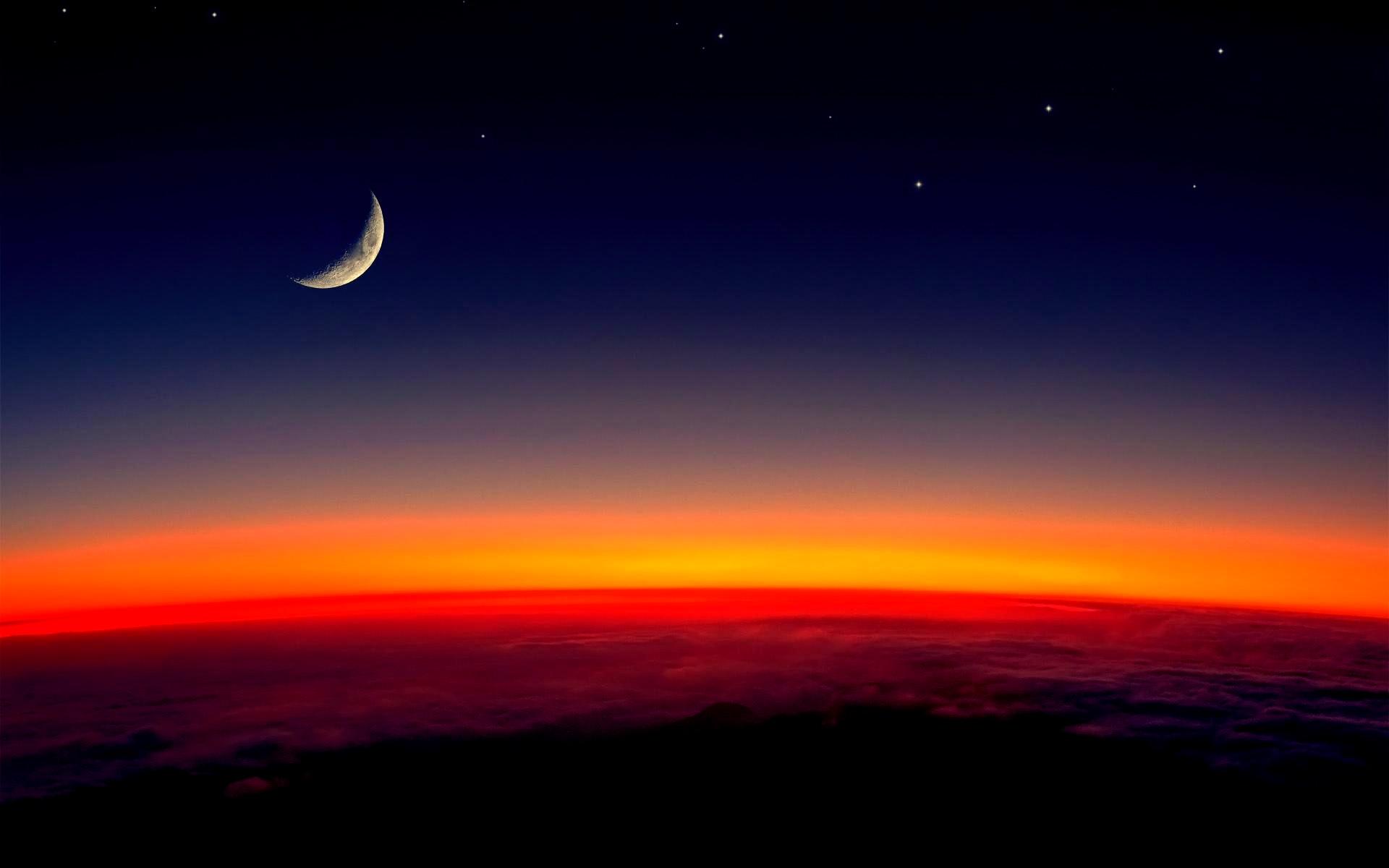 Beautiful Half Moon Wallpaper