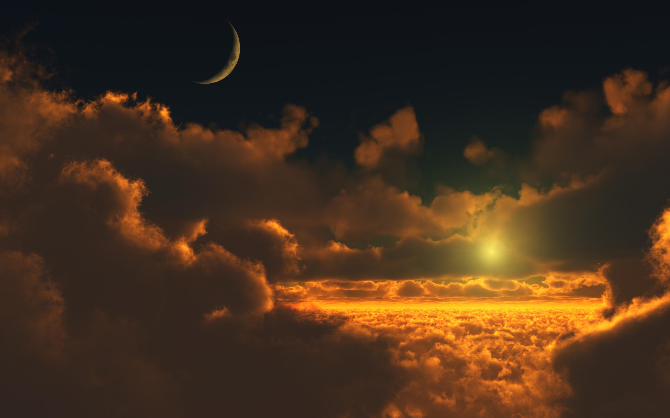 Golden Clouds Wallpaper