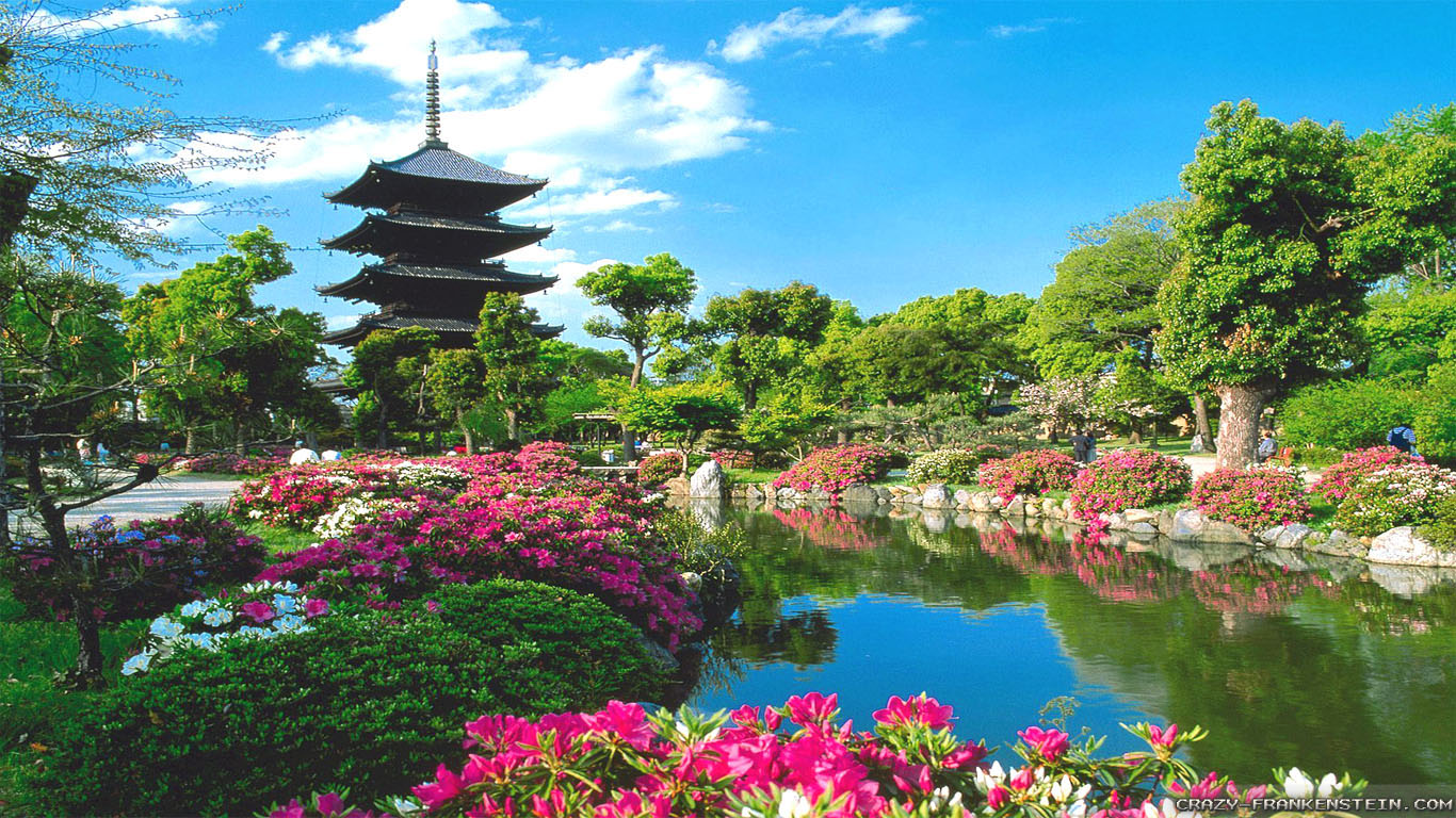 Beautiful japan wallpaper 1366x768 33220 - Nature japan wallpaper ...