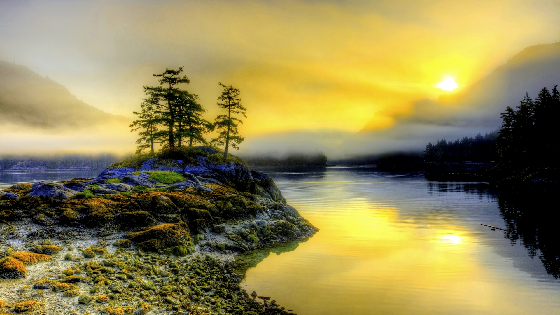 Misty Morning Wallpaper: Morning Wallpaper Beautiful Misty Wallpapers Hd Free 1920x1080px