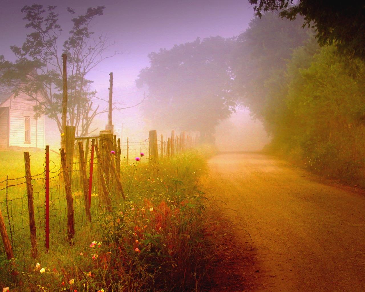 Parks, AZ : morning sunrise near Sherwood Forest photo