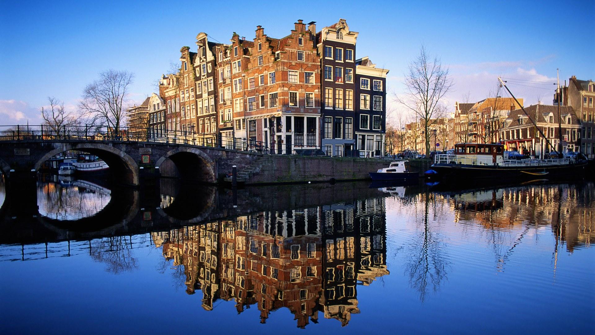 beautiful amsterdam in netherlands