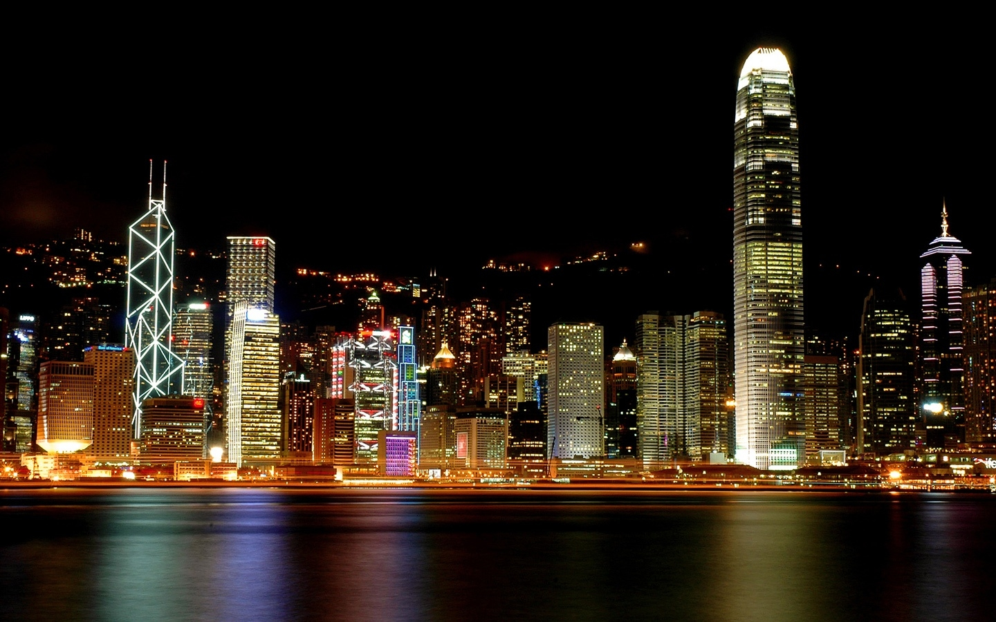 Beautiful Night City Wallpaper Computer Desktop 1235788