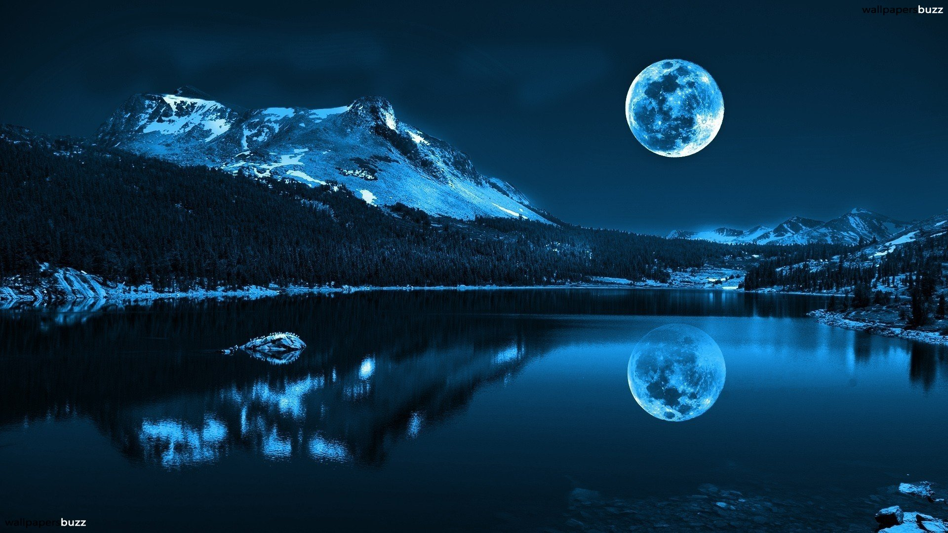 Beauty Night Landscape Wallpaper Full Widescreen #09143