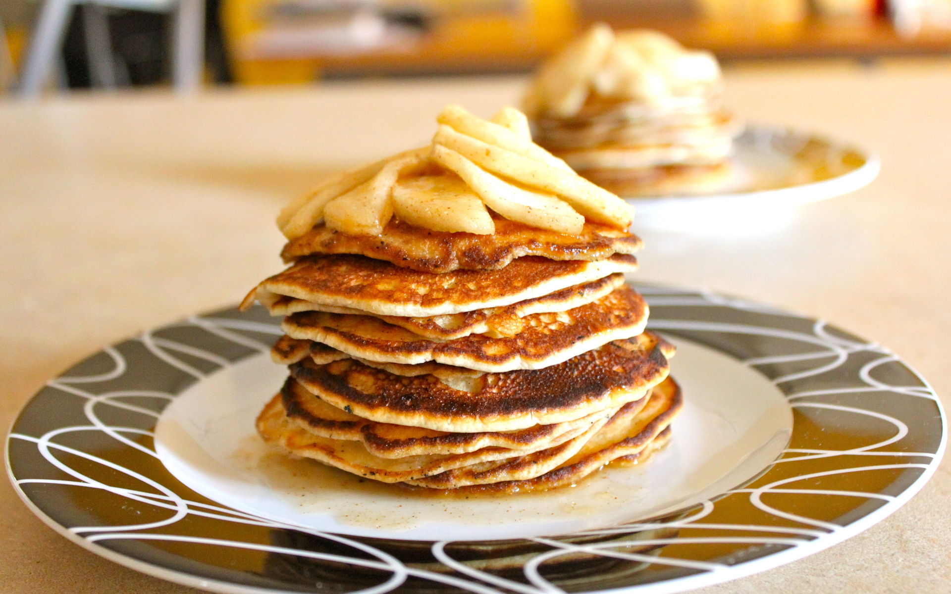 """Download the following Pancake Wallpaper HD 46702 by clicking the orange button positioned underneath the """"Download Wallpaper"""" section."""