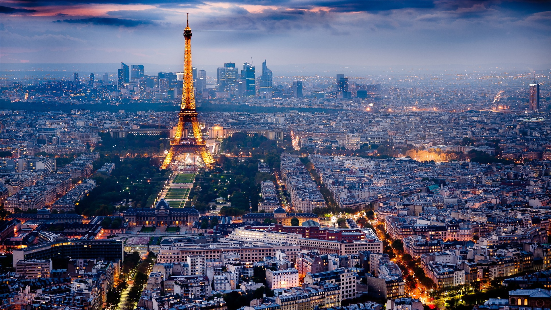 Beautiful Paris Night Wallpaper