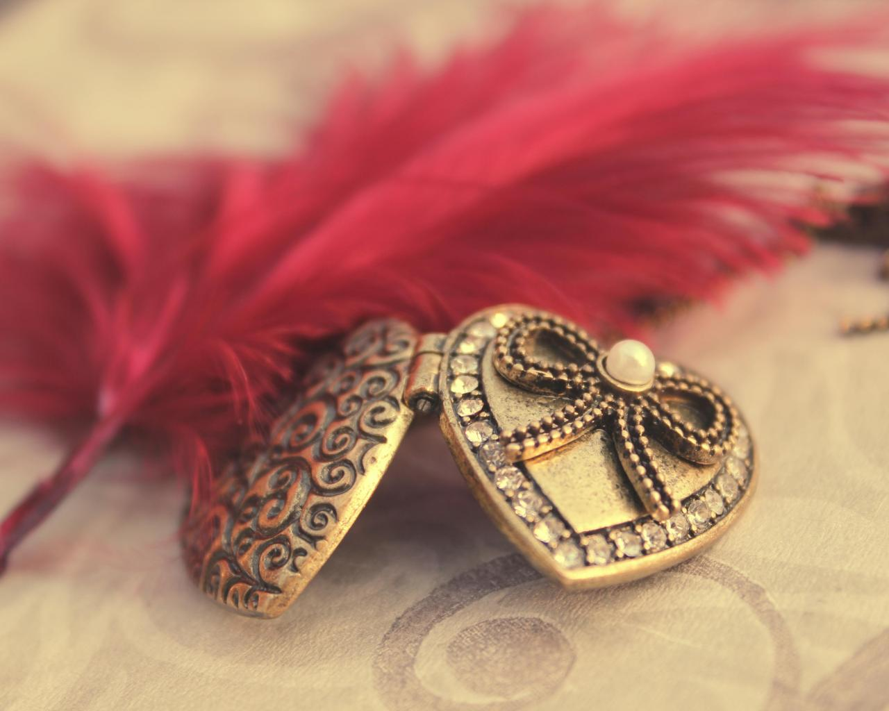 Wallpaper Tags: friendship feather beautiful jewelry locket heart romance photography love hearts bow pendant